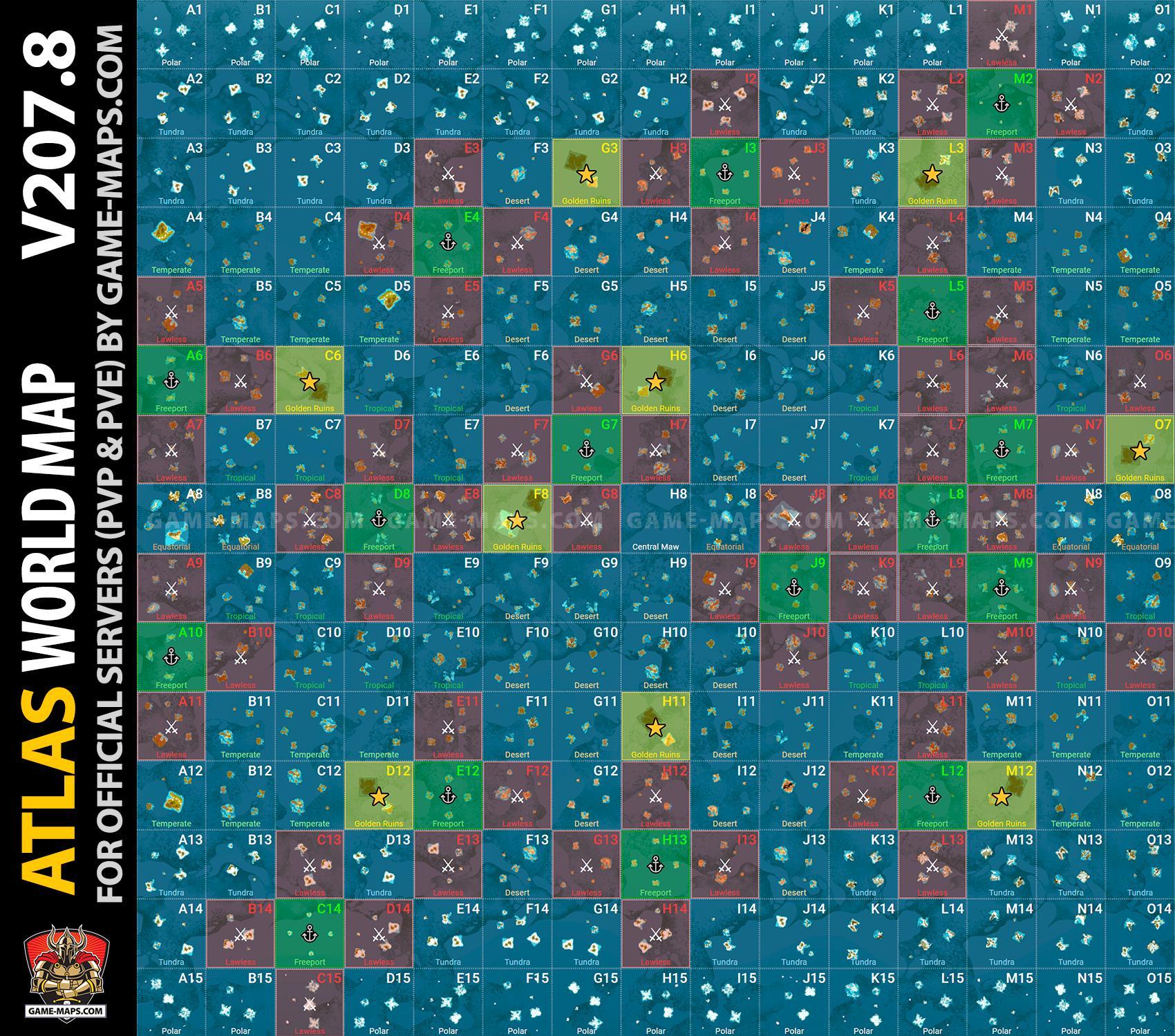 ATLAS MMO Game Guide & Maps v 207 8 | game-maps com