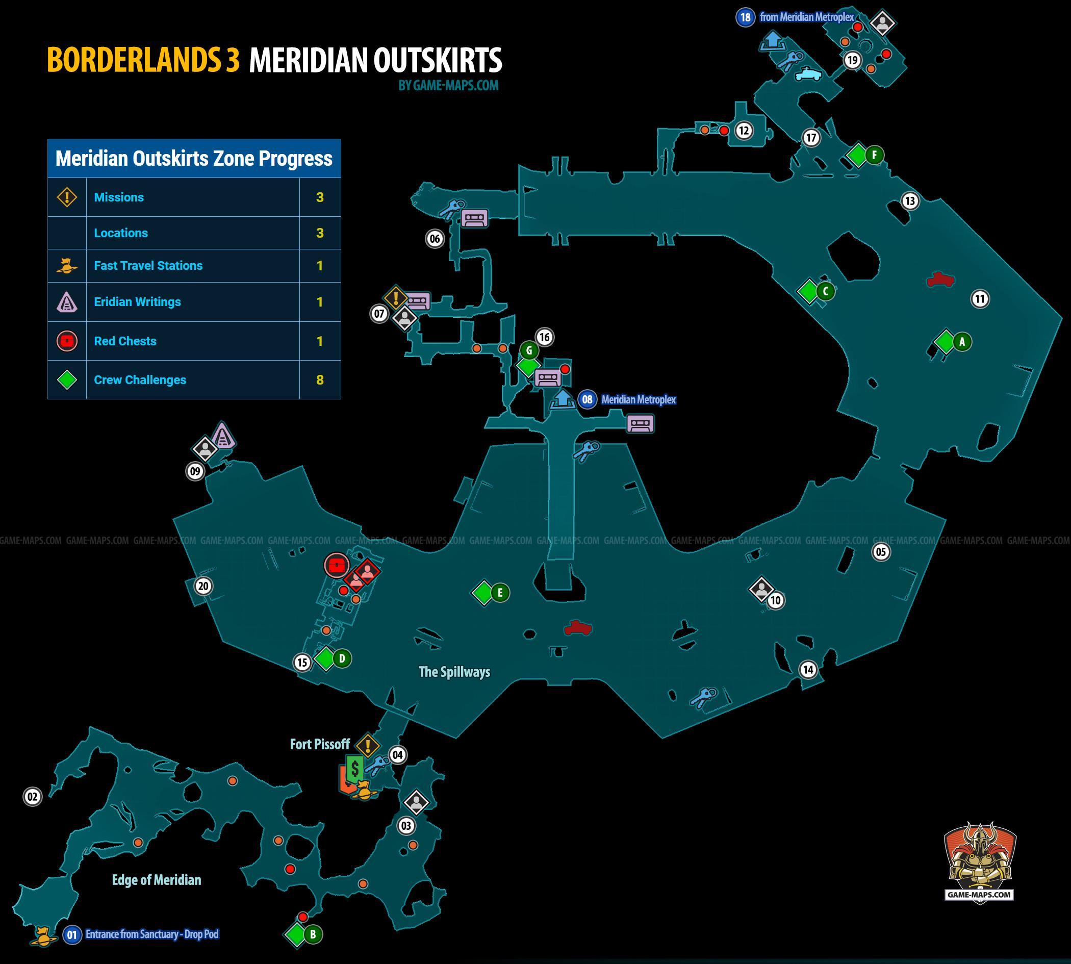 Meridian Outskirts Map for Borderlands 3 | game-maps com