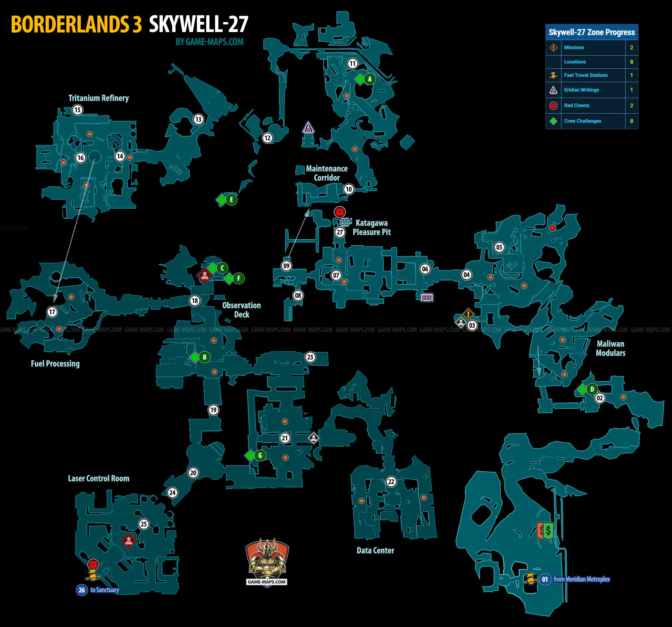 Skywell 27 Map For Borderlands 3 Game Maps Com