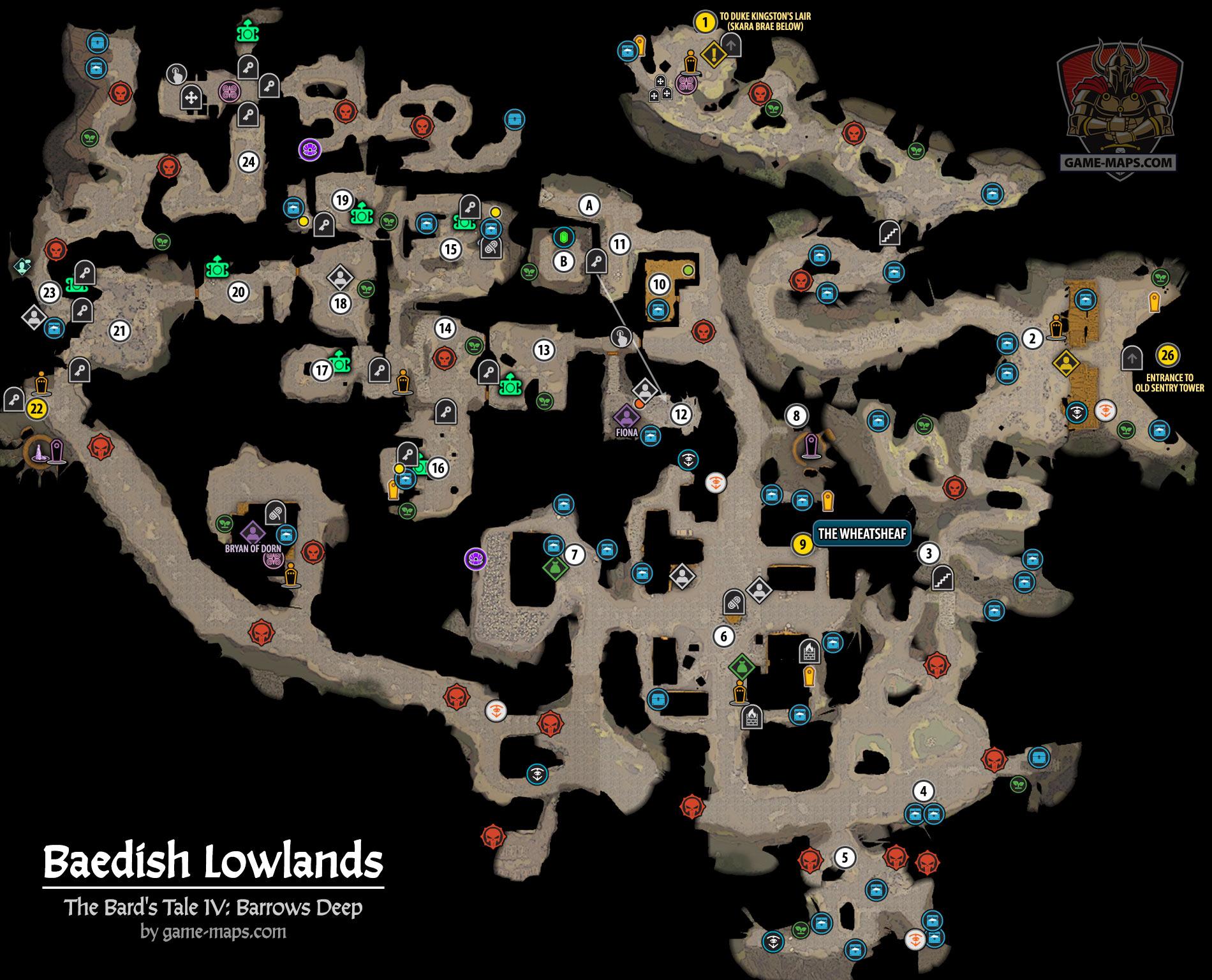 Baedish Lowlands Map Game Maps Com