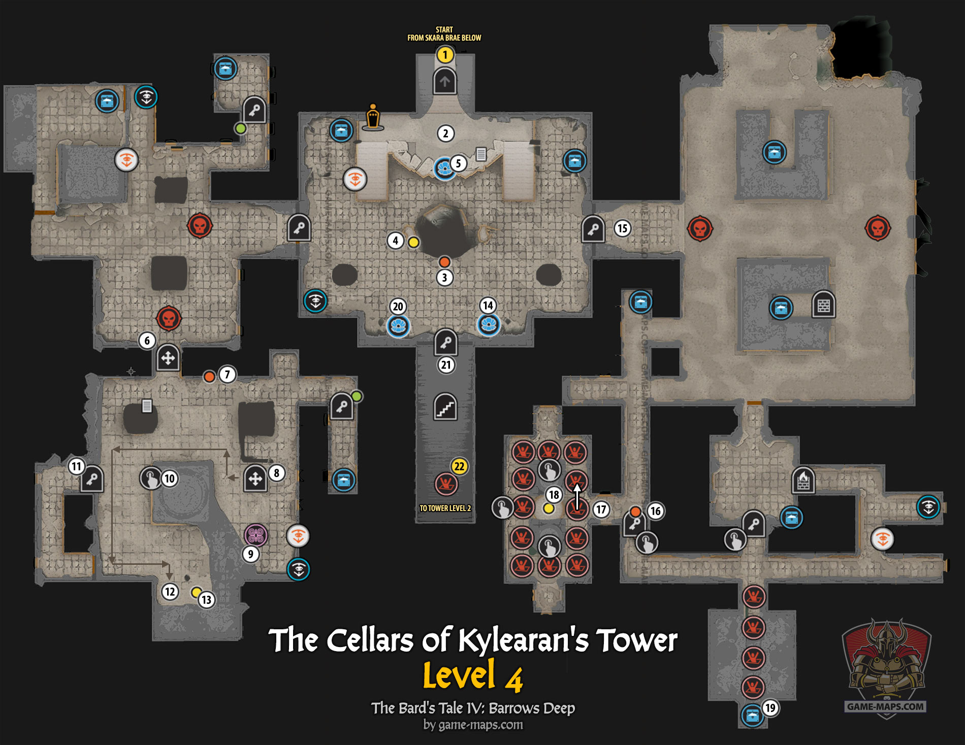 The Cellars of Kylearan's Tower Level 4 Map | game-maps com