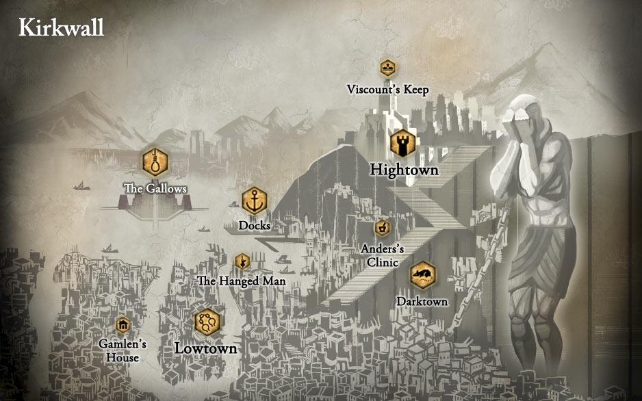 Kirkwall City - Dragon Age II | game-maps.com