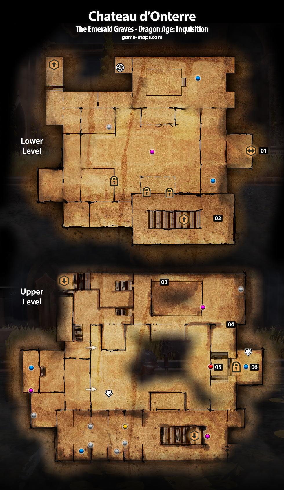 Chateau D Onterre Dragon Age Inquisition Game Maps Com