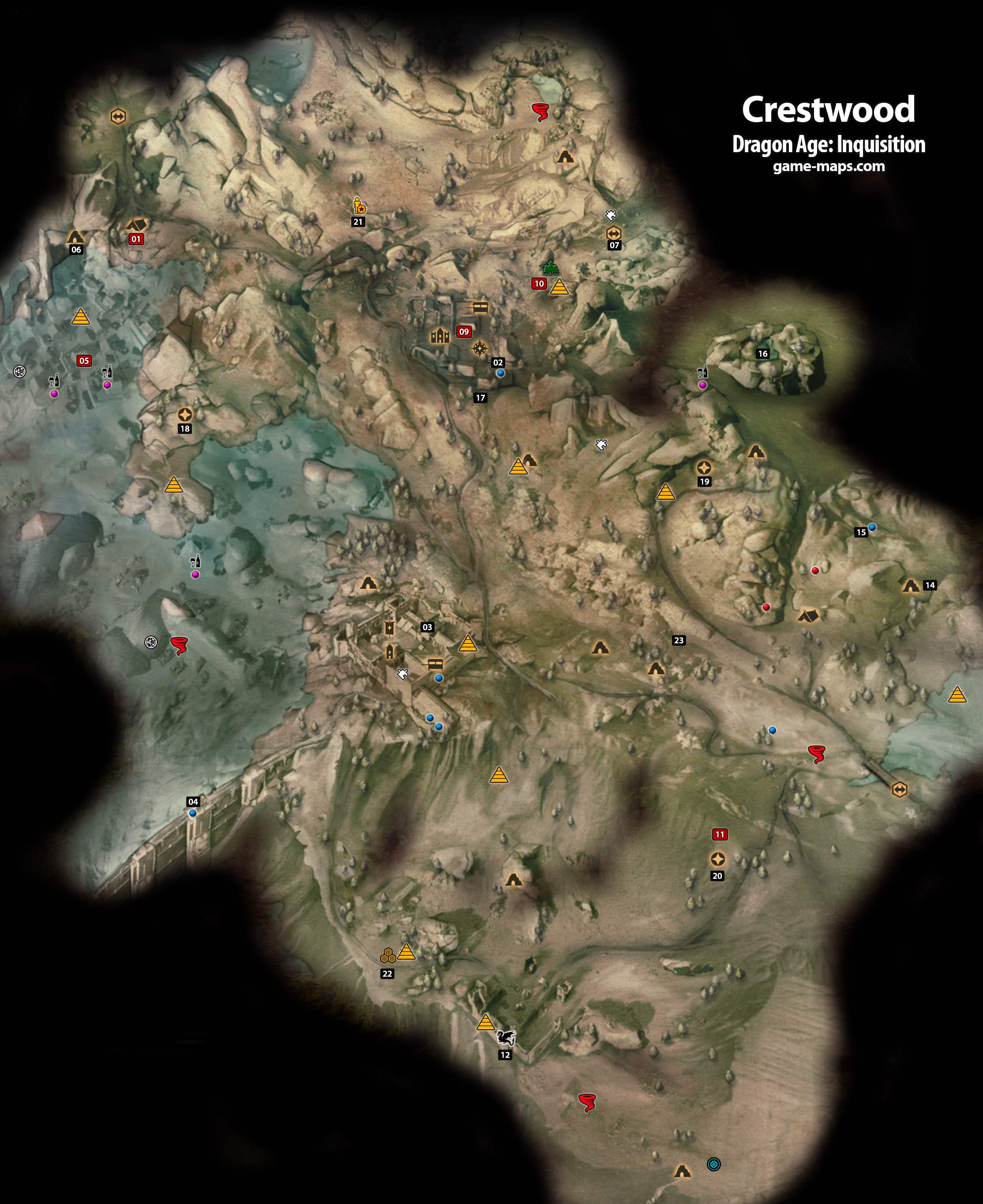 Crestwood dragon age inquisition walkthrough game guide amp maps