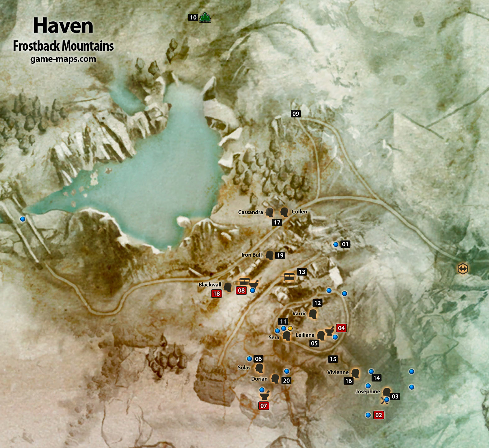 Frostback Mountains Haven Dragon Age Inquisition Game Maps Com