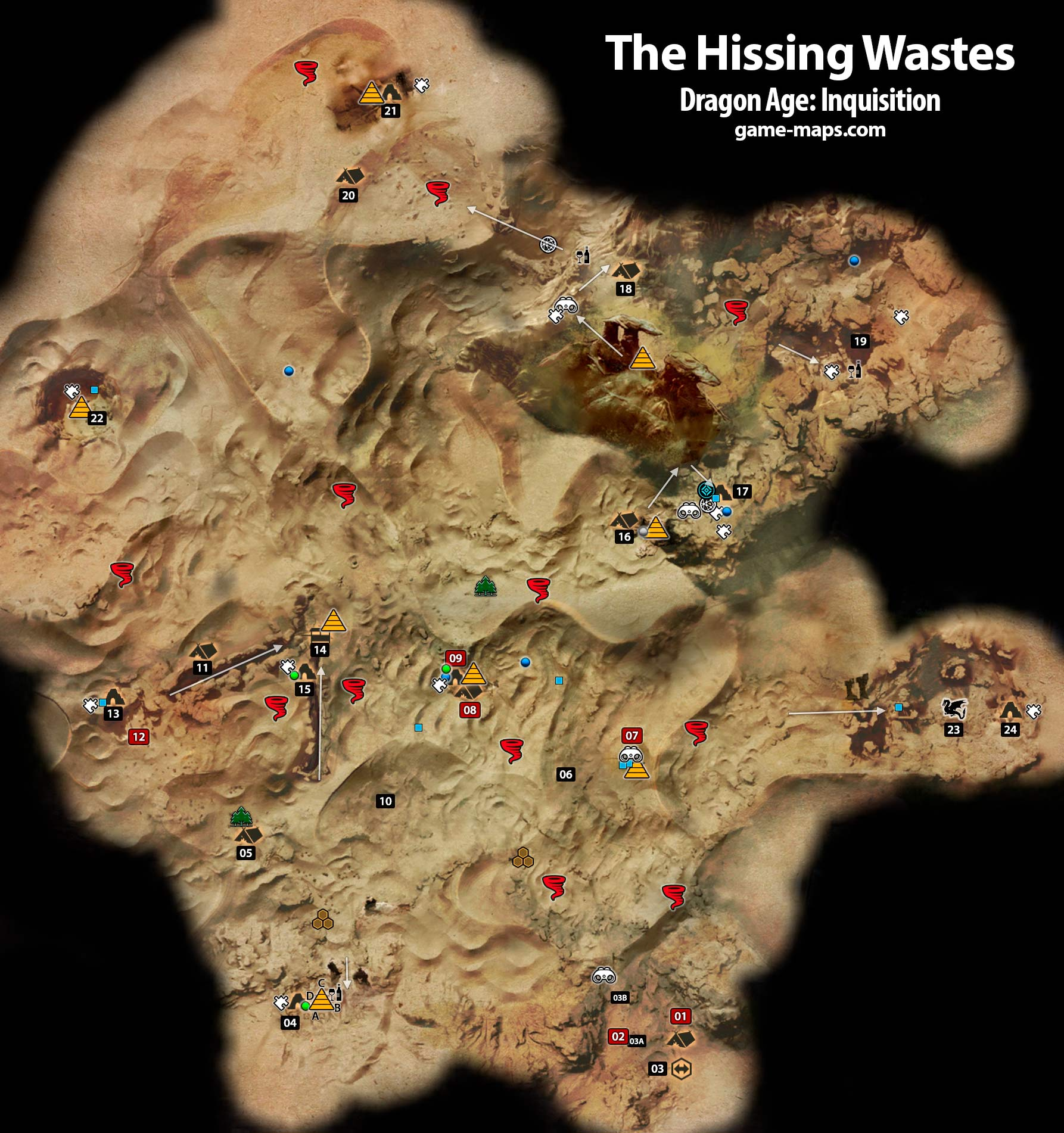 The Hissing Wastes - Dragon Age: Inquisition | game-maps.com