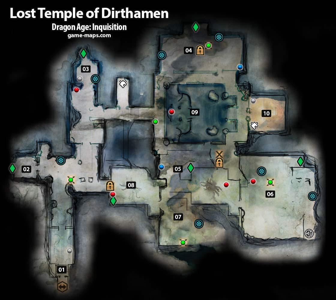 Lost Temple of Dirthamen Dragon Age Inquisition gamemapscom