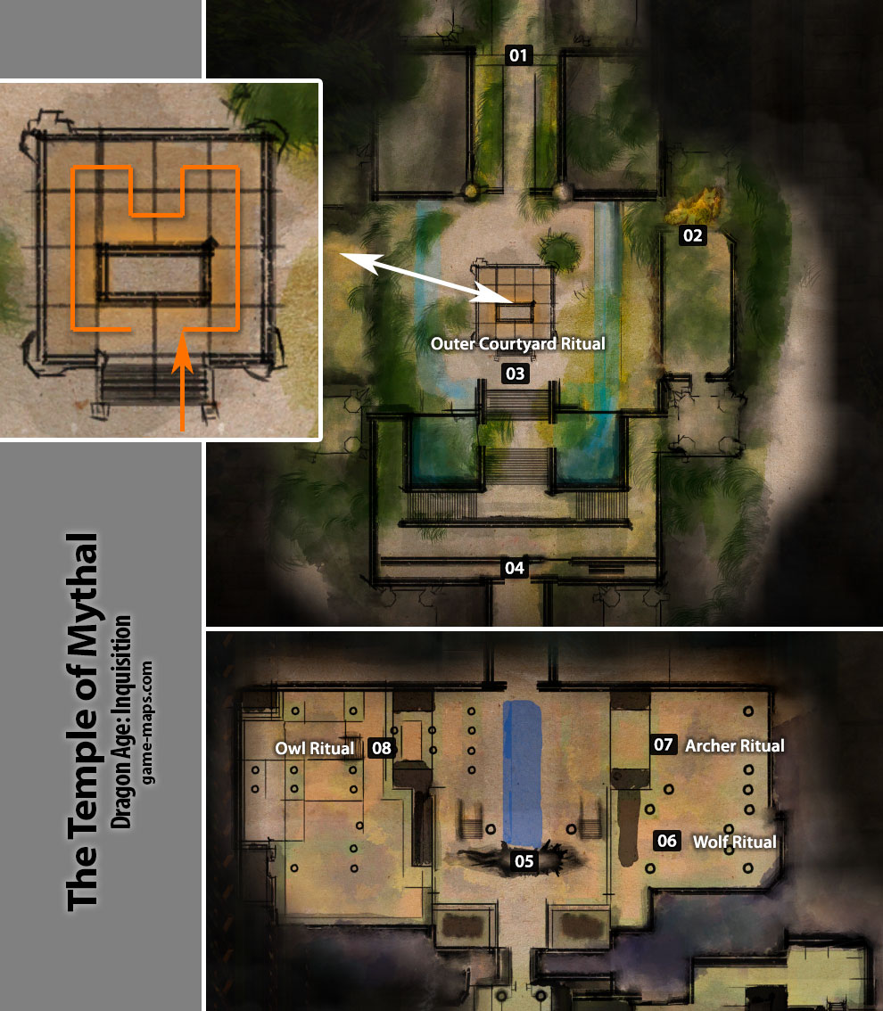 The Temple of Mythal Dragon Age Inquisition gamemapscom