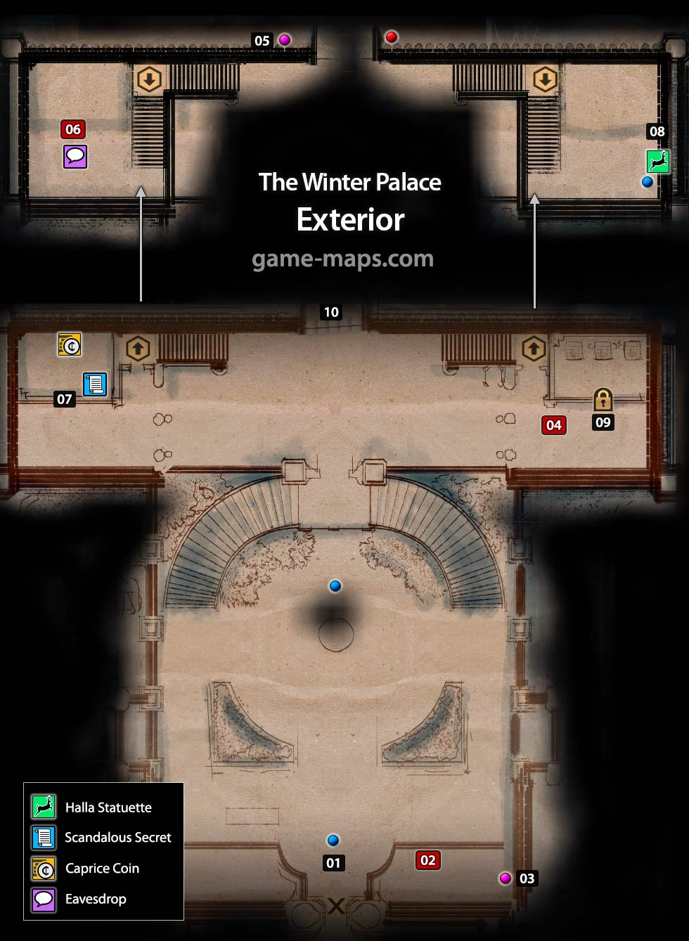 Map of The Winter Palace Exterior - Dragon Age Inquisition  sc 1 st  GAME-MAPS.com & Halamshiral: The Winter Palace - Dragon Age: Inquisition | game-maps.com