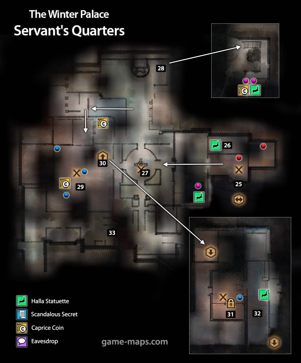 Map of The Winter Palace Servants Quarters - Dragon Age: Inquisition