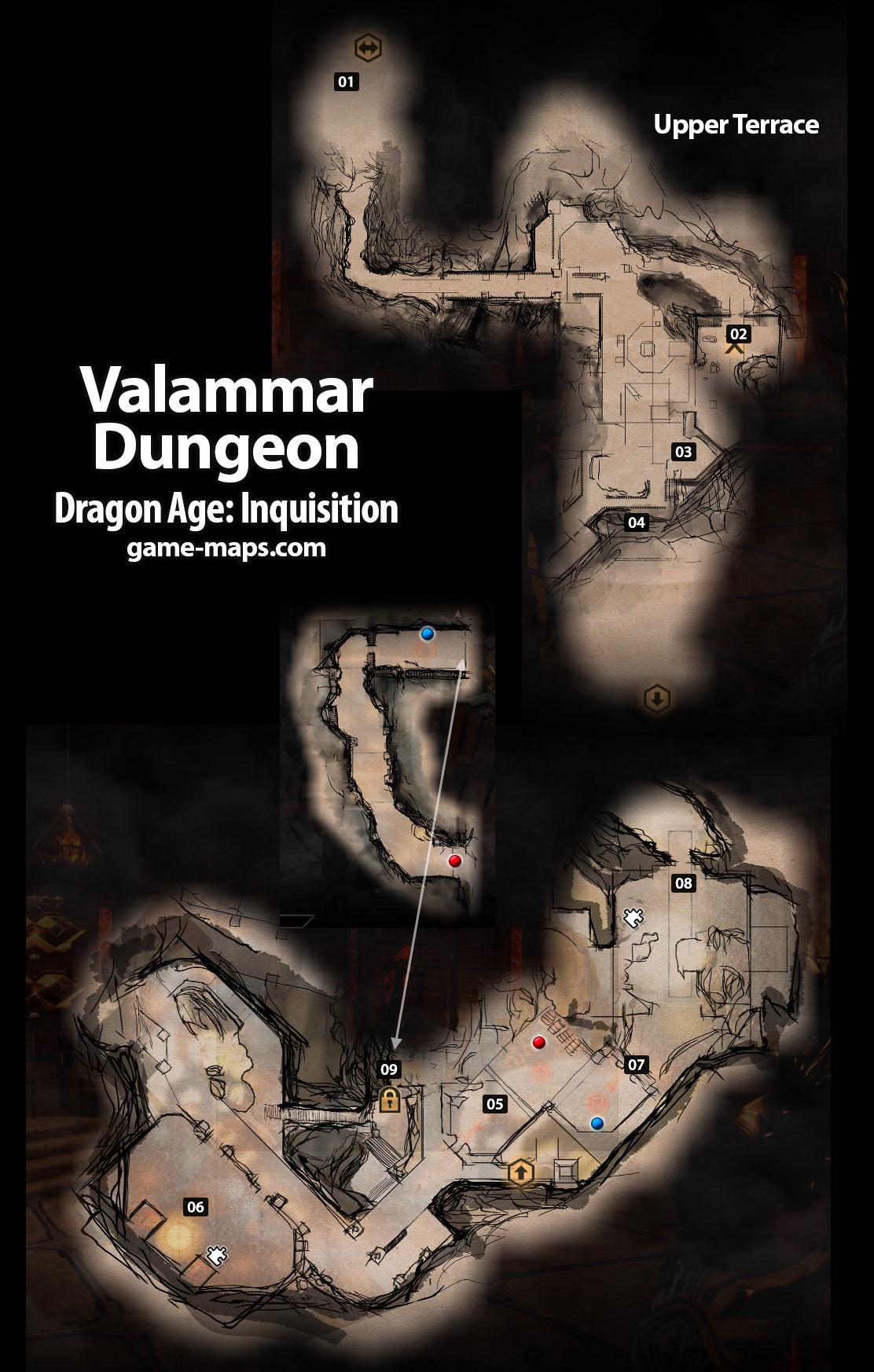 Valammar Dungeon Dragon Age Inquisition Game Maps Com