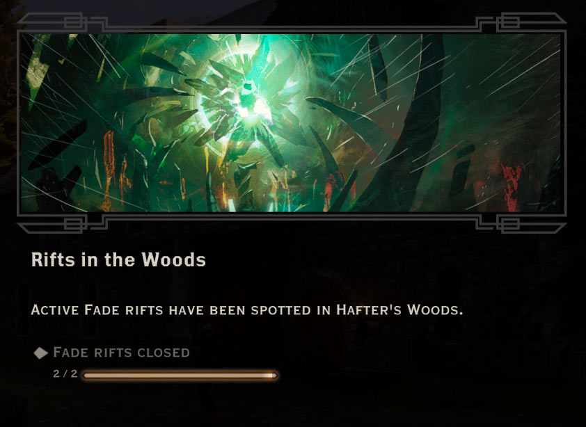 Rifts in the woods quest dragon age inquisition walkthrough game