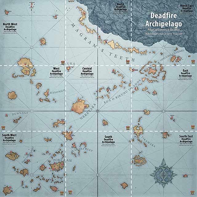 World Map for Pillars of Eternity II: Deadfire   Deadfire
