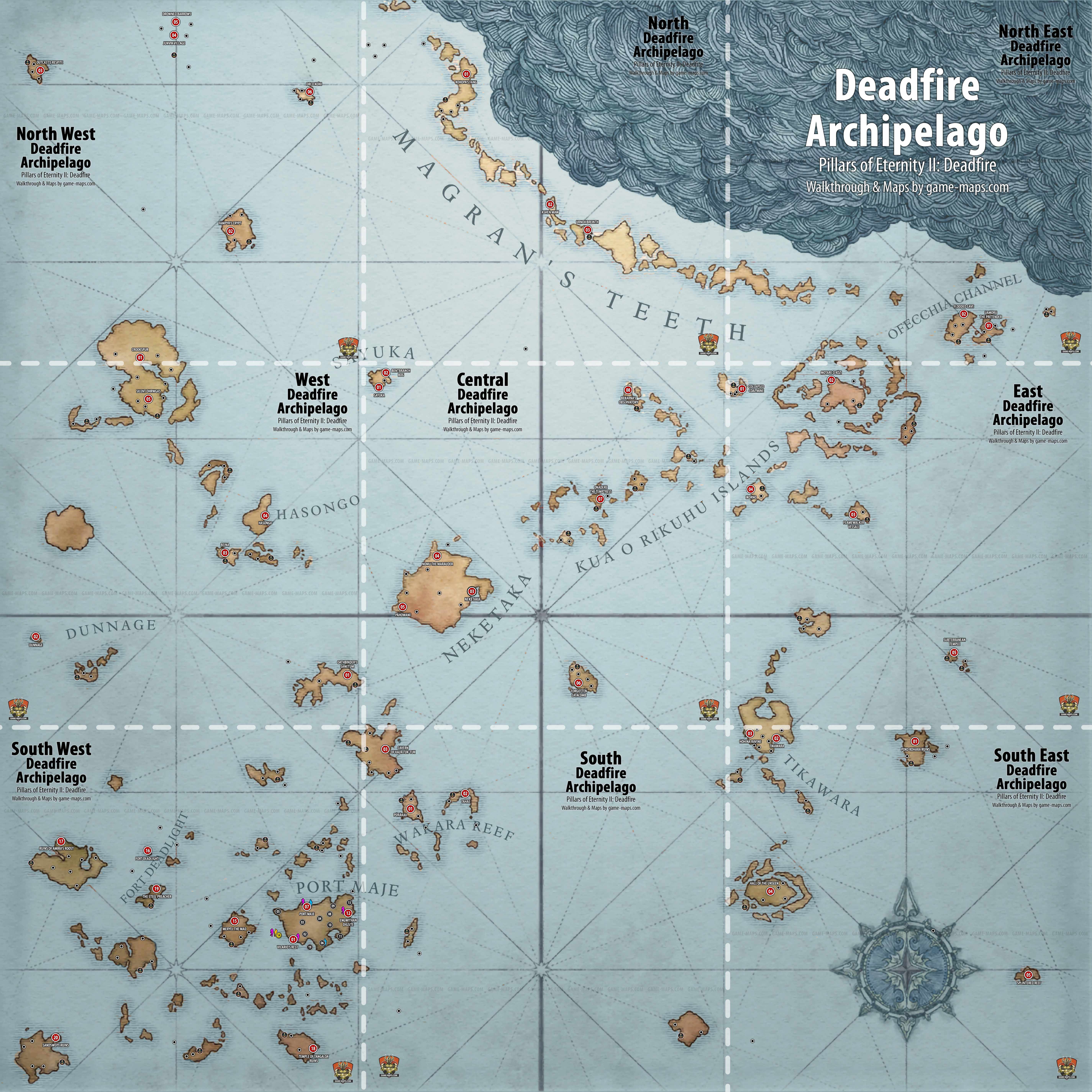 Mapa Pillars Of Eternity.World Map For Pillars Of Eternity Ii Deadfire Deadfire