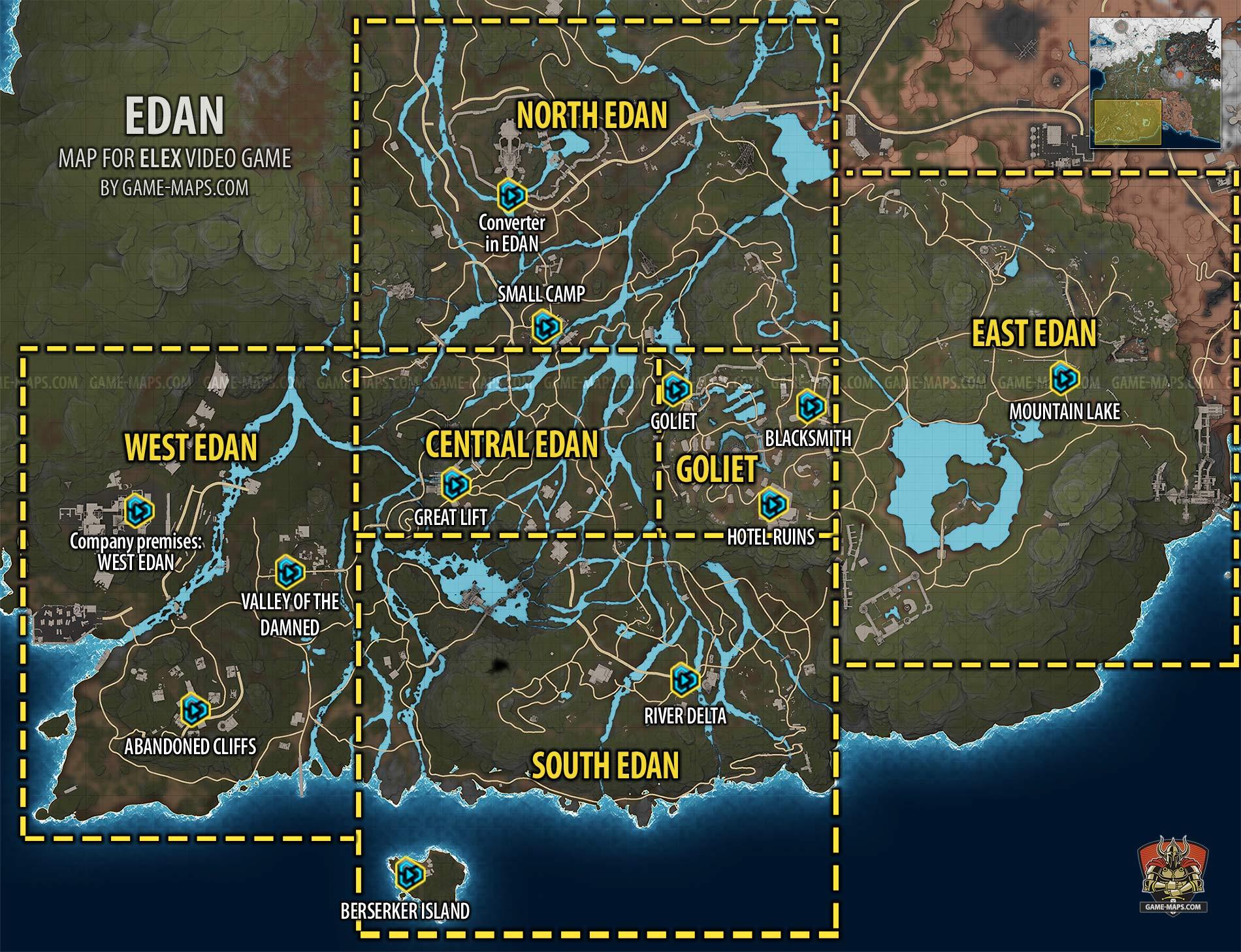 elex karte Edan Map | ELEX | game maps.com