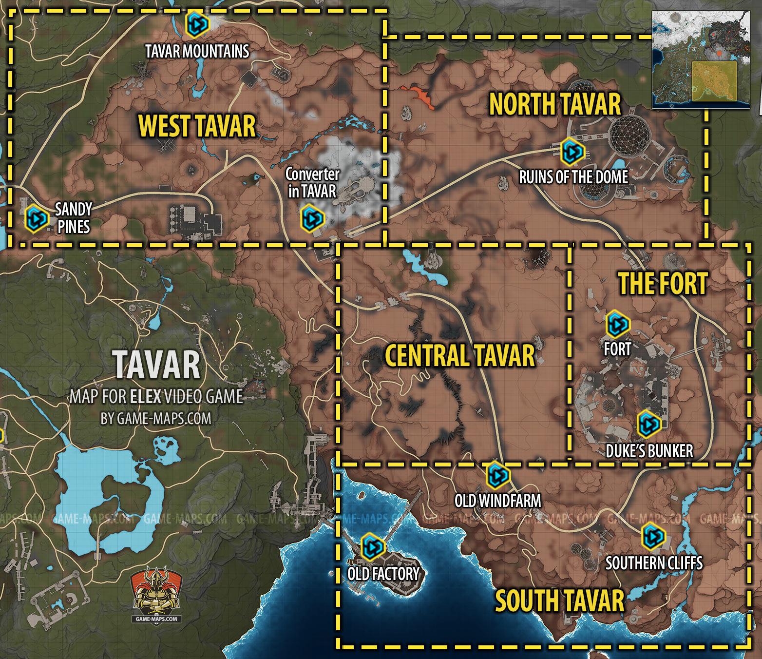 Tavar Map | ELEX | game-maps.com