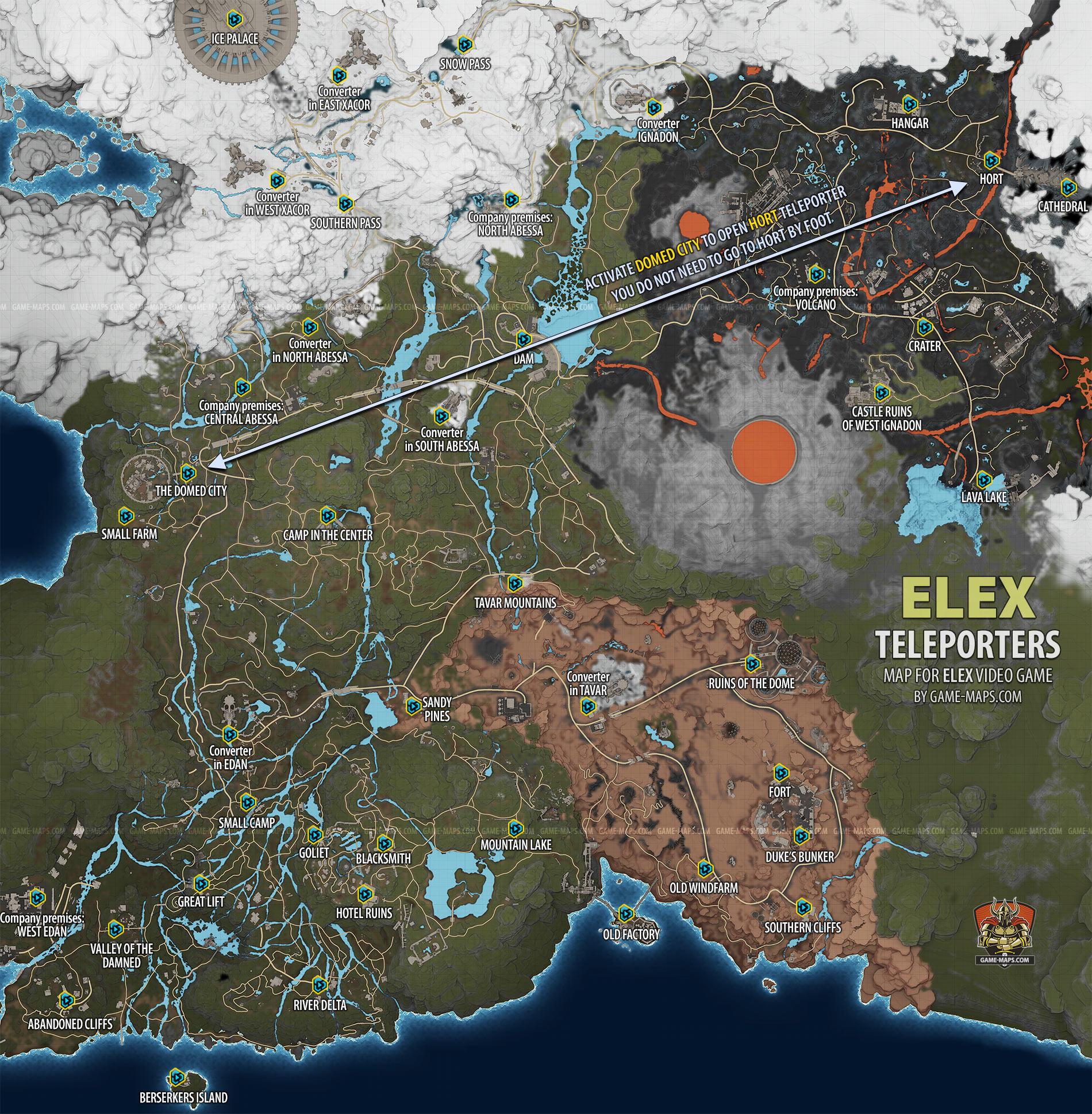 elex karte ELEX Teleporters Map | game maps.com