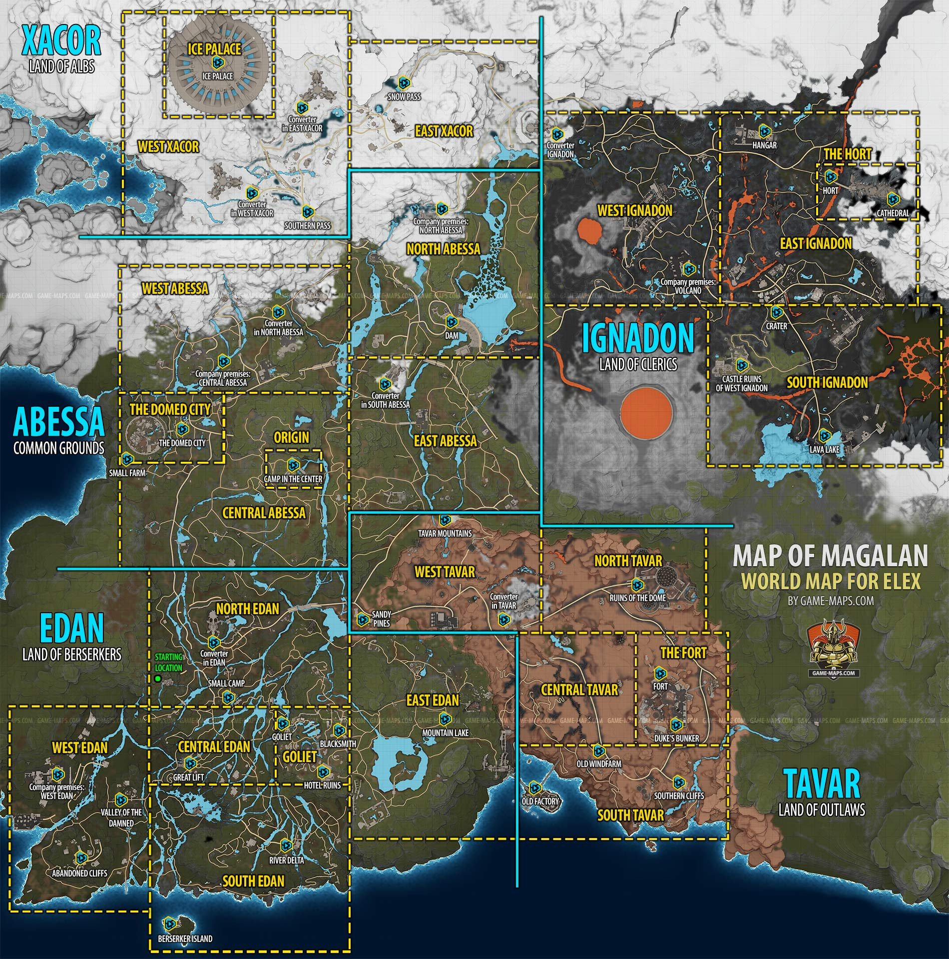 magalan world map for elex video game