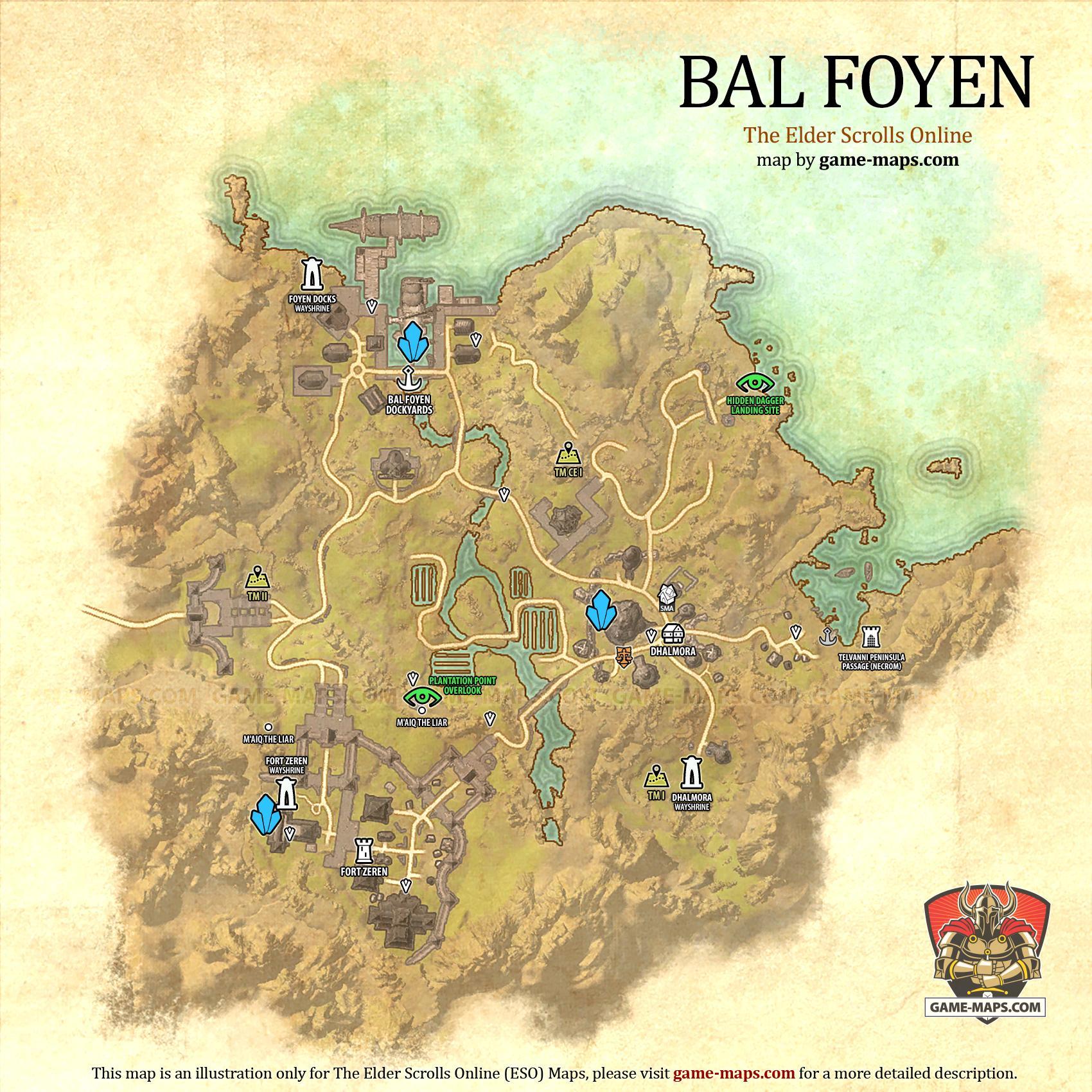 Bal foyen map the elder scrolls online game maps bal foyen zone map the elder scrolls online eso maps guides walkthroughs gumiabroncs Images