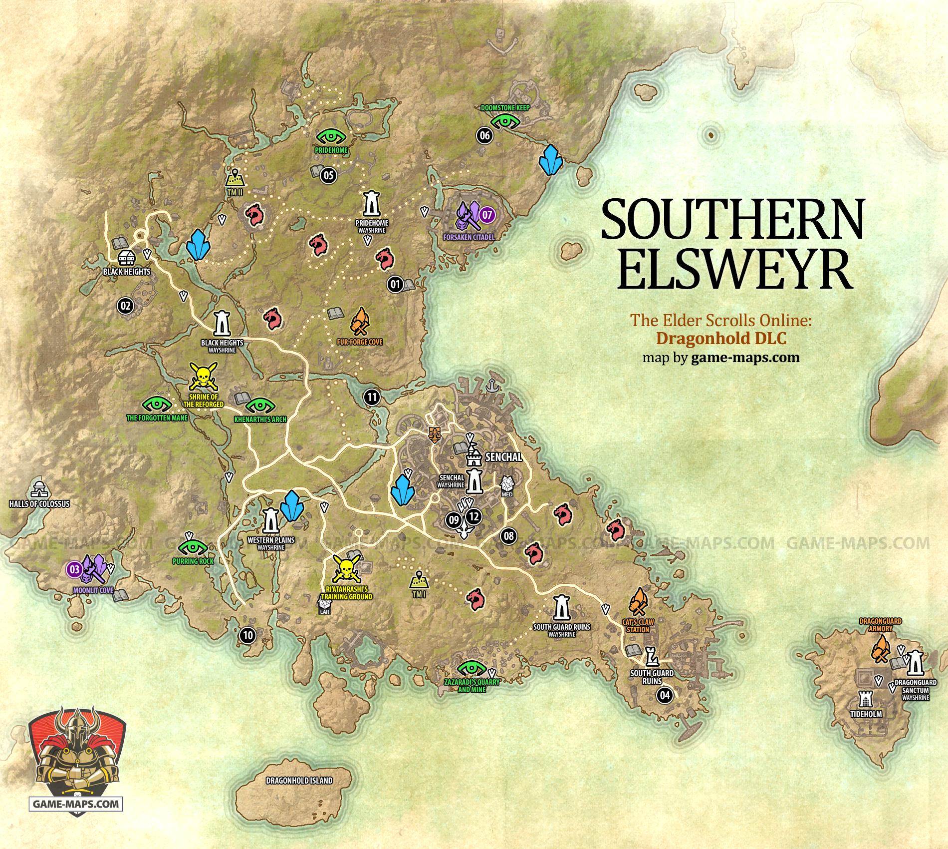 Southern Elsweyr Map ESO - The Elder Scrolls Online | game ...