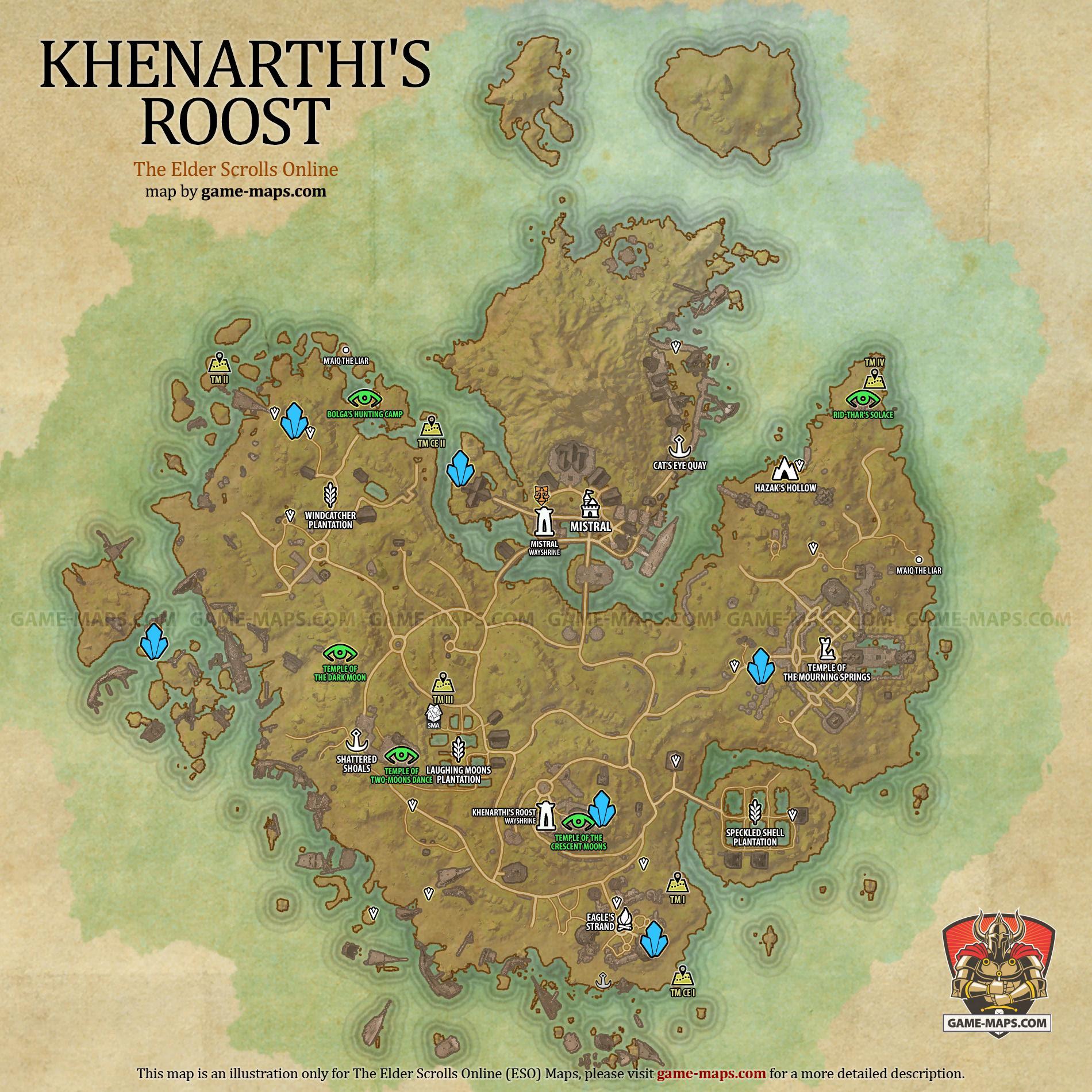 Khenarthis roost map the elder scrolls online game maps khenarthis roost zone map mistral the elder scrolls online eso maps guides walkthroughs gumiabroncs Images