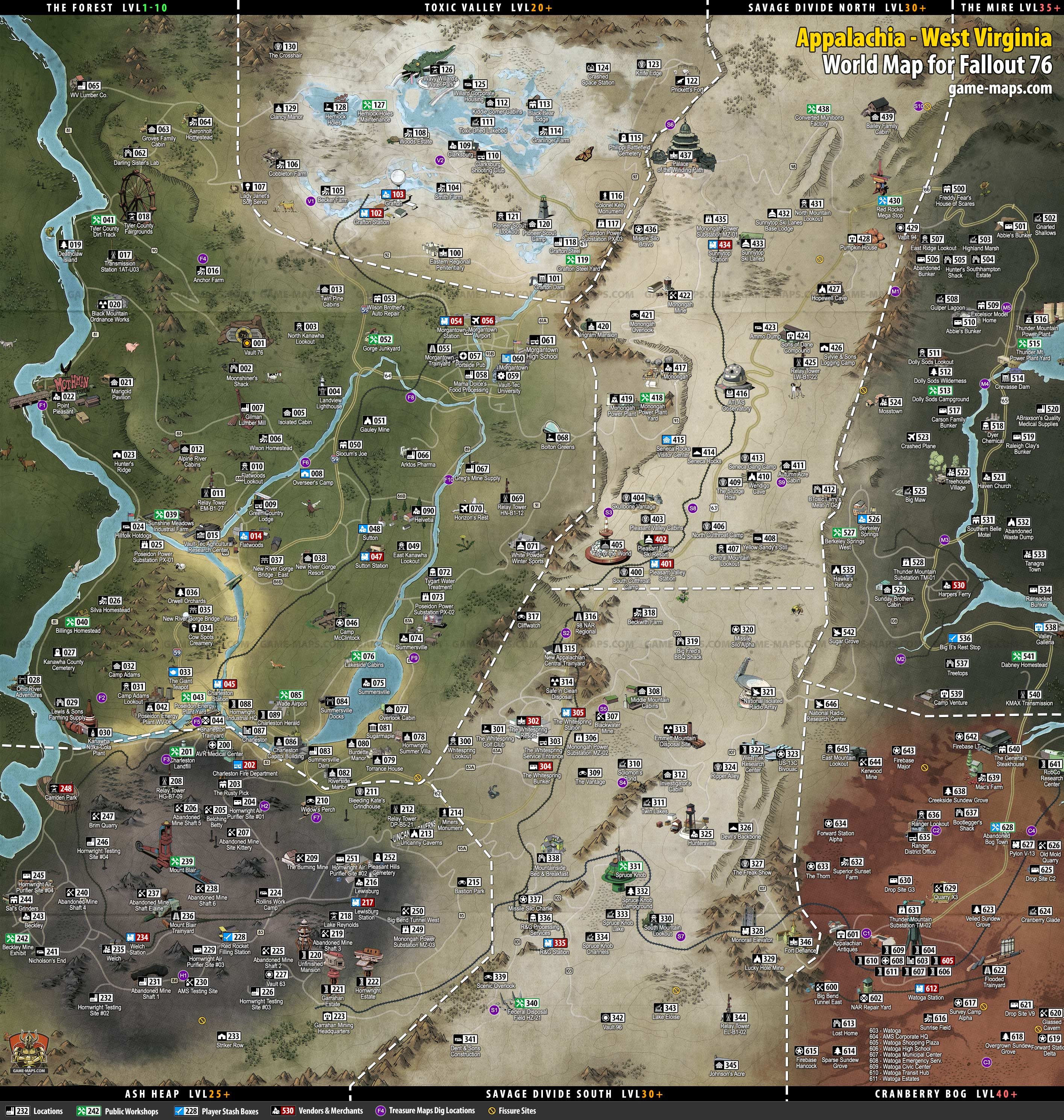 Fallout 76 Map - All Locations, HD, Full Map | game-maps.com on defiance full map, defiance game, defiance zip code, defiance earth map, defiance map bay area, defiance silicon valley map, defiance ps3 map, defiance iowa murder, defiance map overpass on, defiance book, defiance north radio tower, defiance world map,