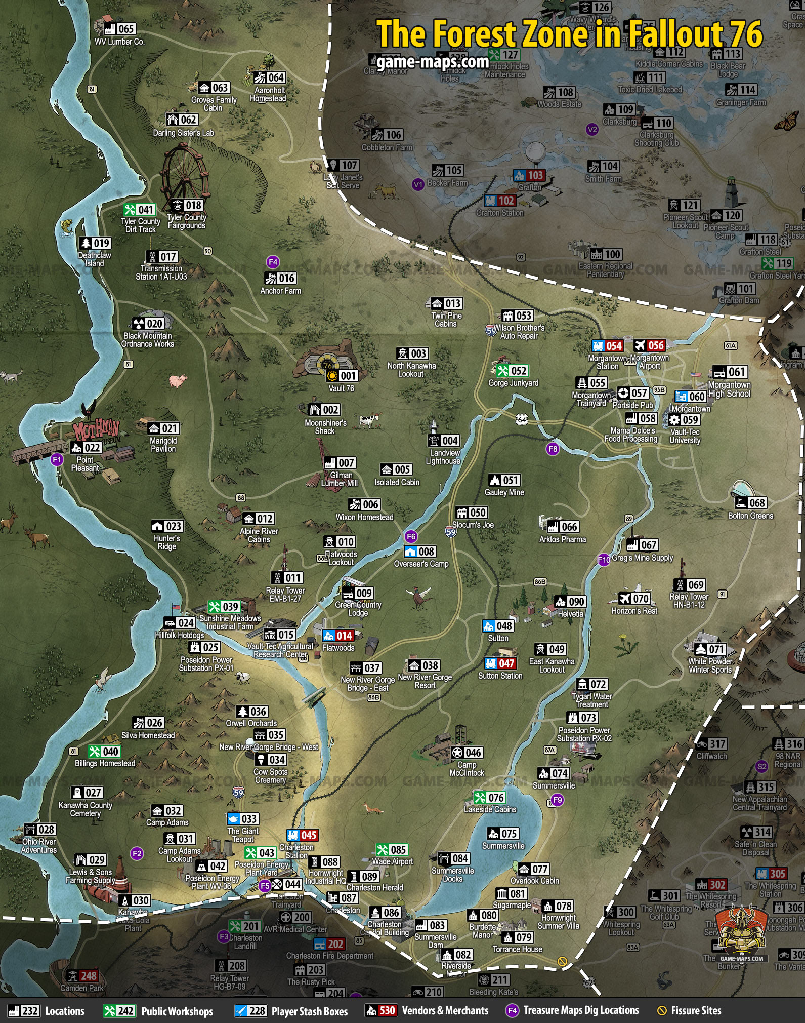Fallout 4 Us Map.The Forest Map For Fallout 76 Game Maps Com