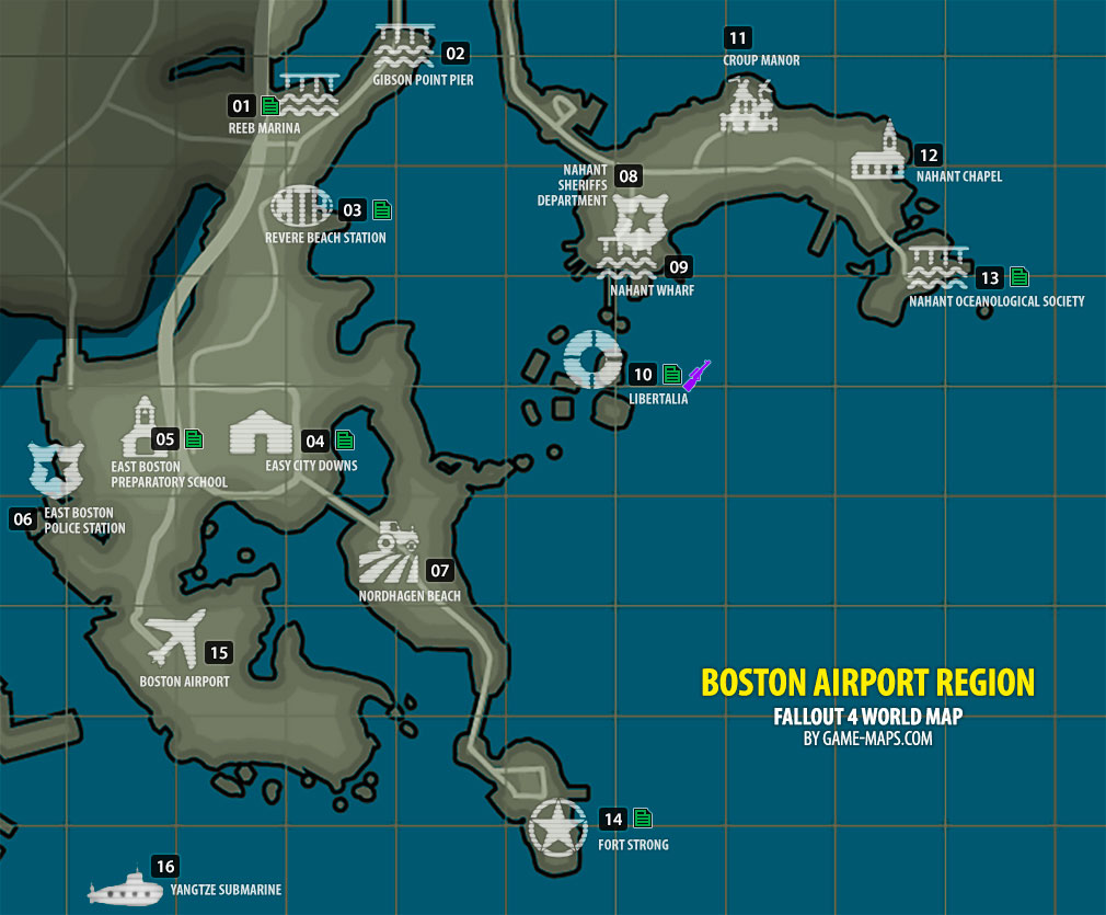 Boston Airport Region Map Fallout - Fallout game map of us