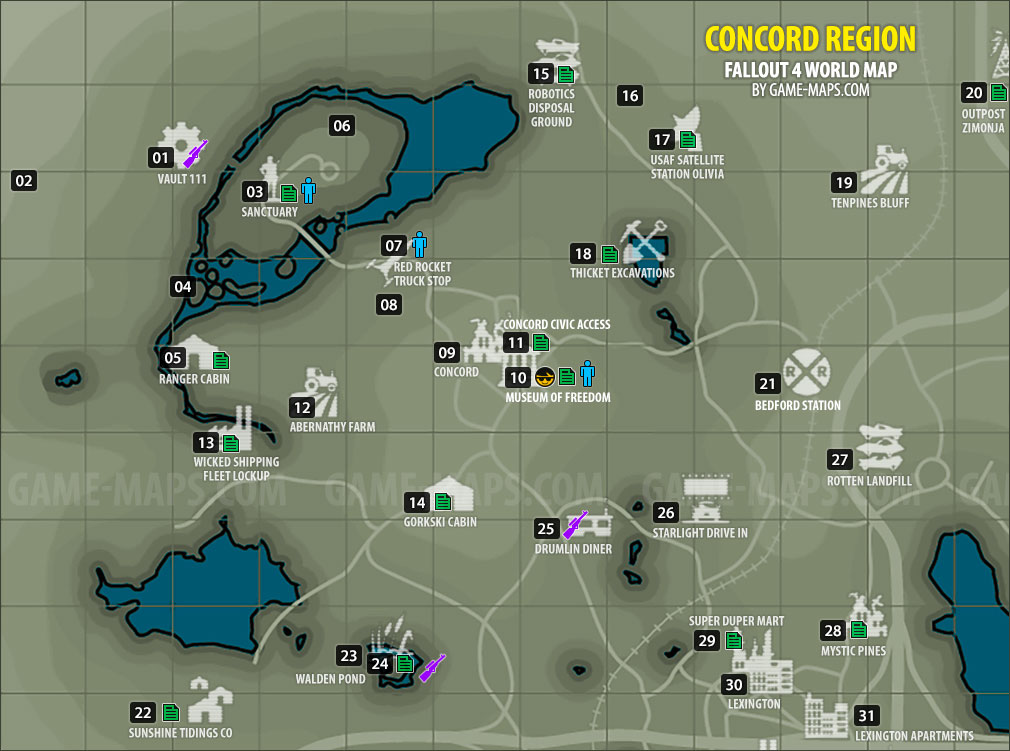 Concord Region Map Fallout 4 Game Maps Com