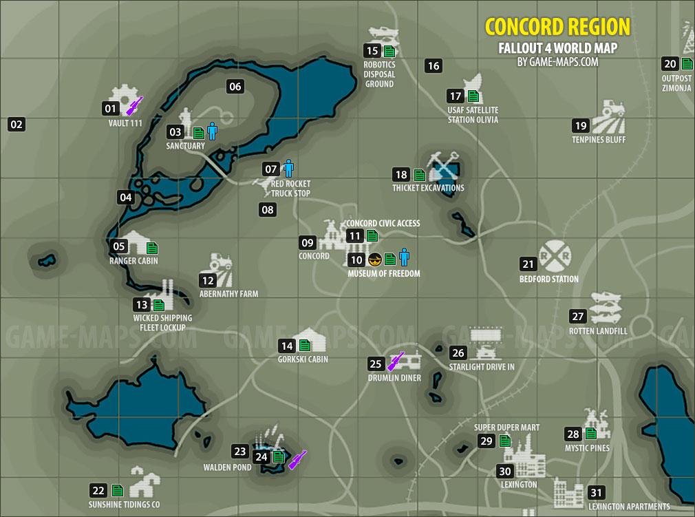 Concord Region Map Fallout 4