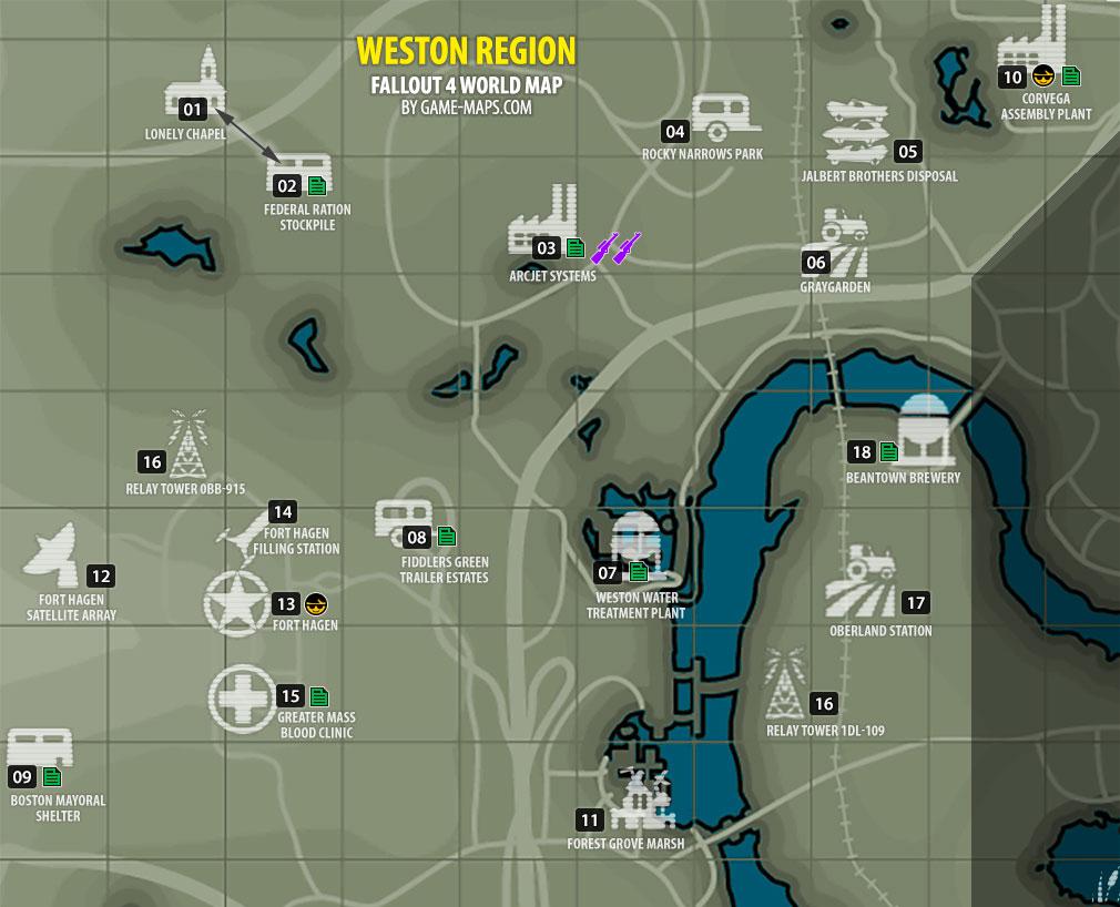 Weston region map fallout 4 for Floor 4 mini boss map
