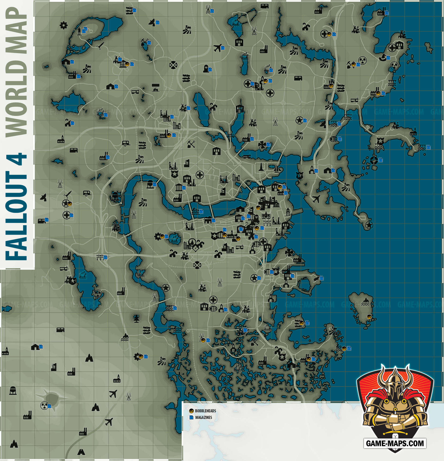 Fallout 4 World Map | game maps.com