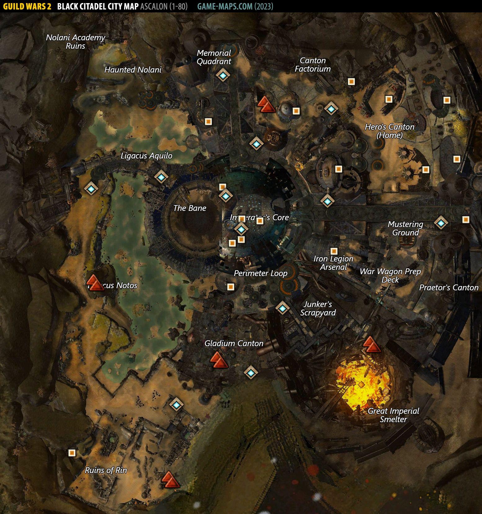 Black Citadel City Map - Guild Wars 2 | game-maps com