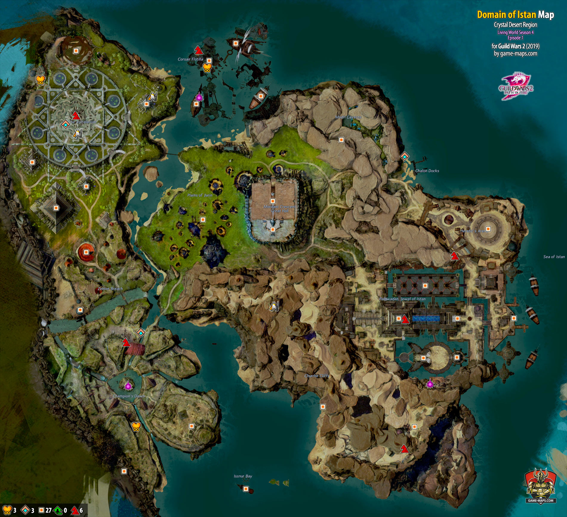 Domain of Istan Map (2019)- Guild Wars 2 | game-maps com