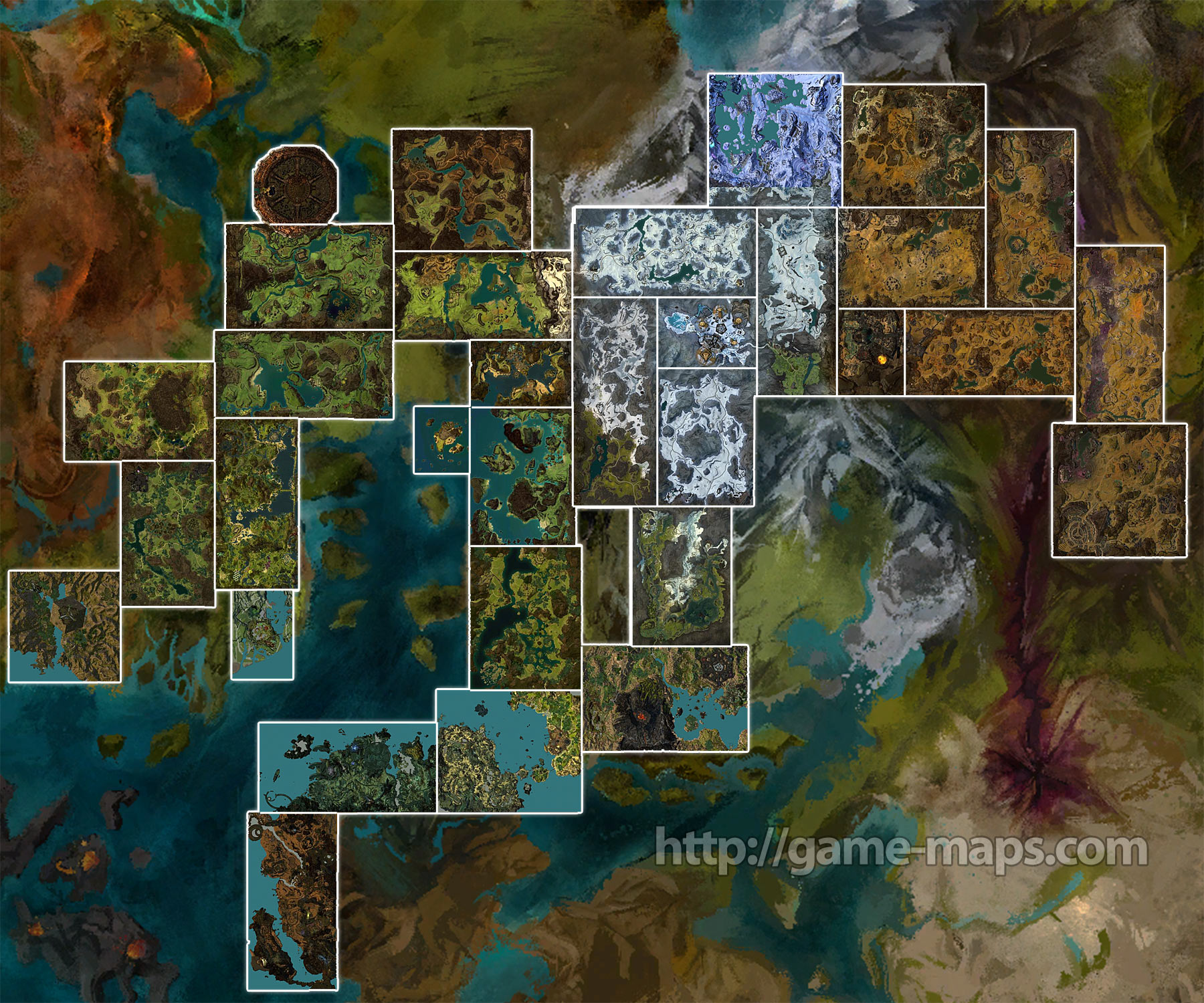 I am new to guilds of war 2, how big is map compared to skyrim ...