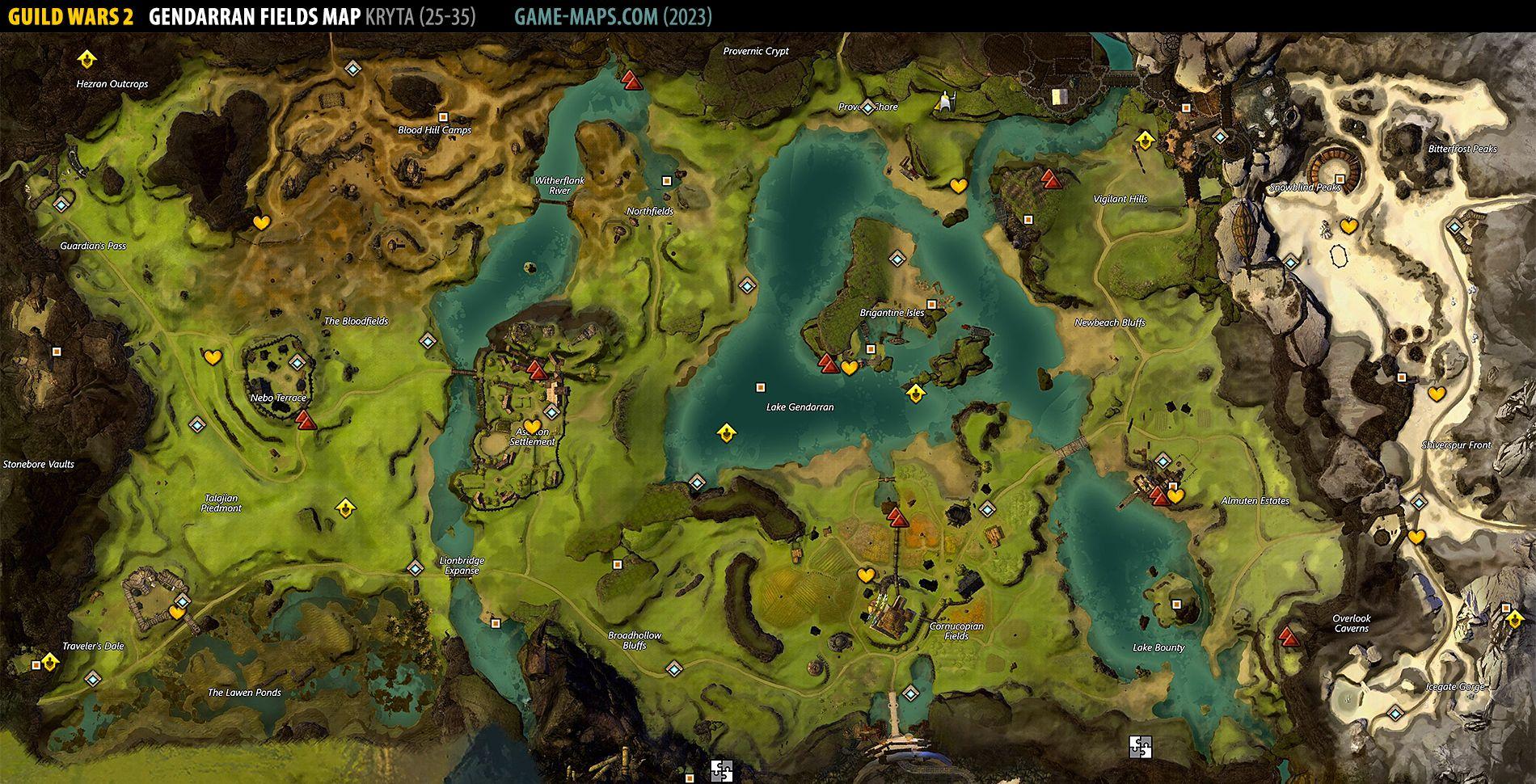 Gendarran Fields Map 2019 Guild Wars 2 Game Maps Com