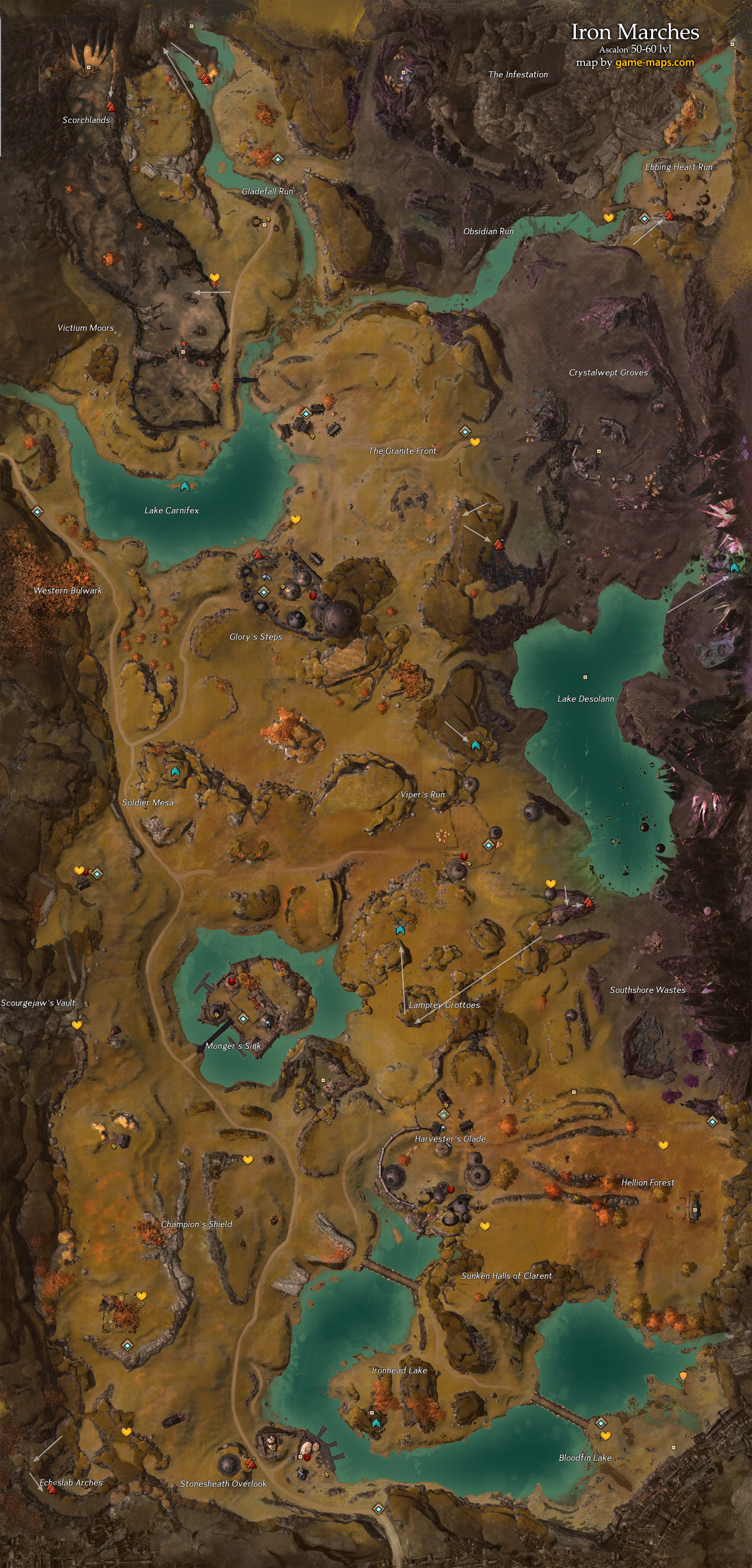 Iron Marches Map Guild Wars 2 Game Mapscom