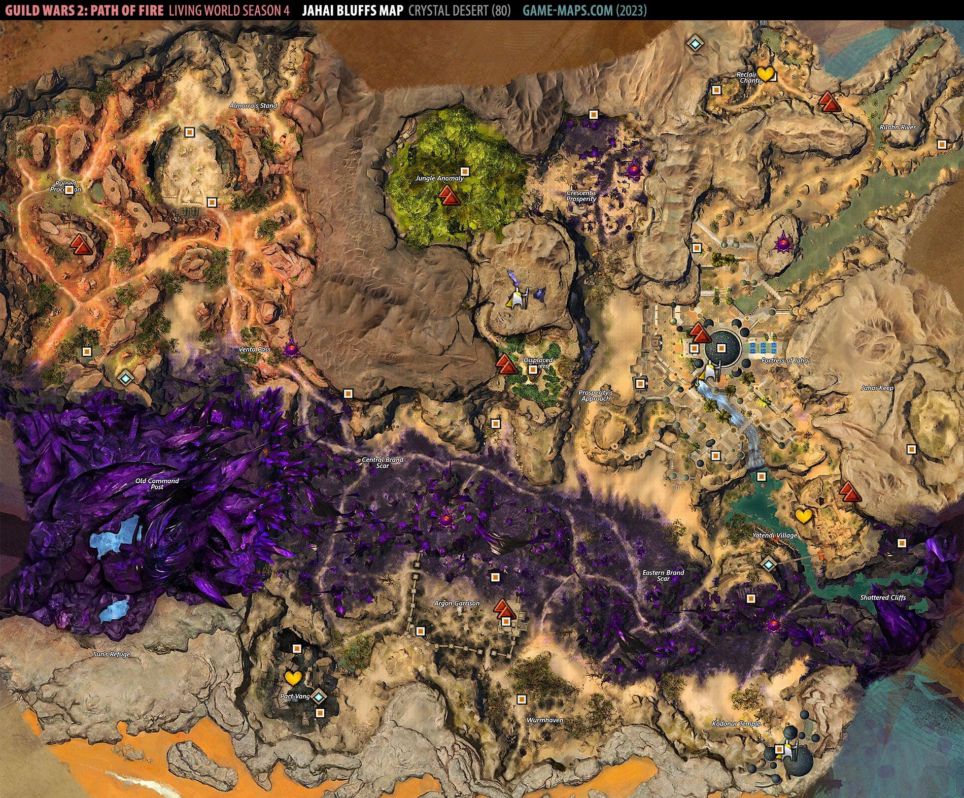 Jahai Bluffs GW2 map