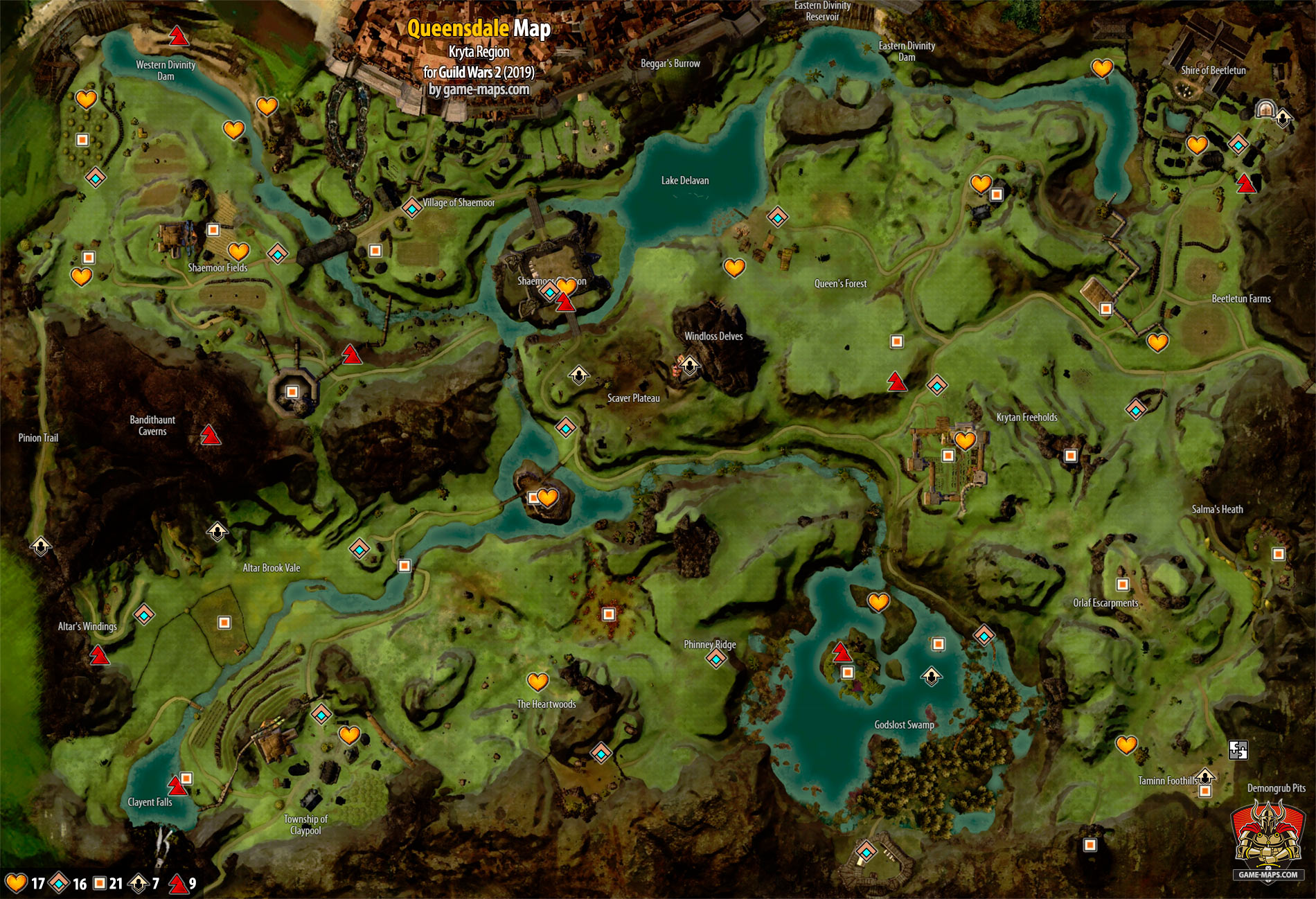 Guild Wars 1 World Map.Queensdale Map Guild Wars 2 Game Maps Com