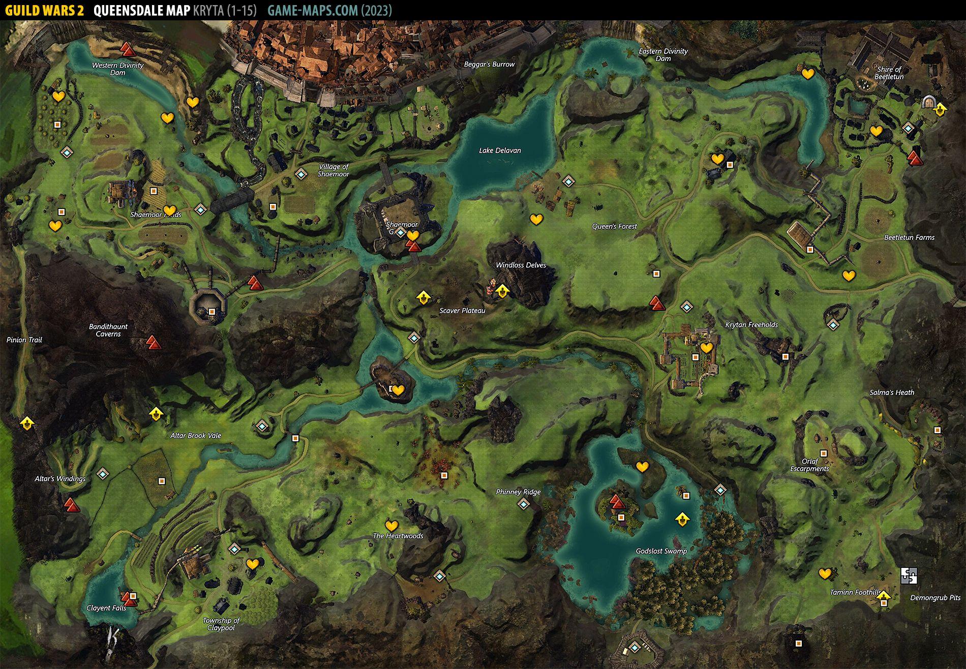 kessex hills map hero points