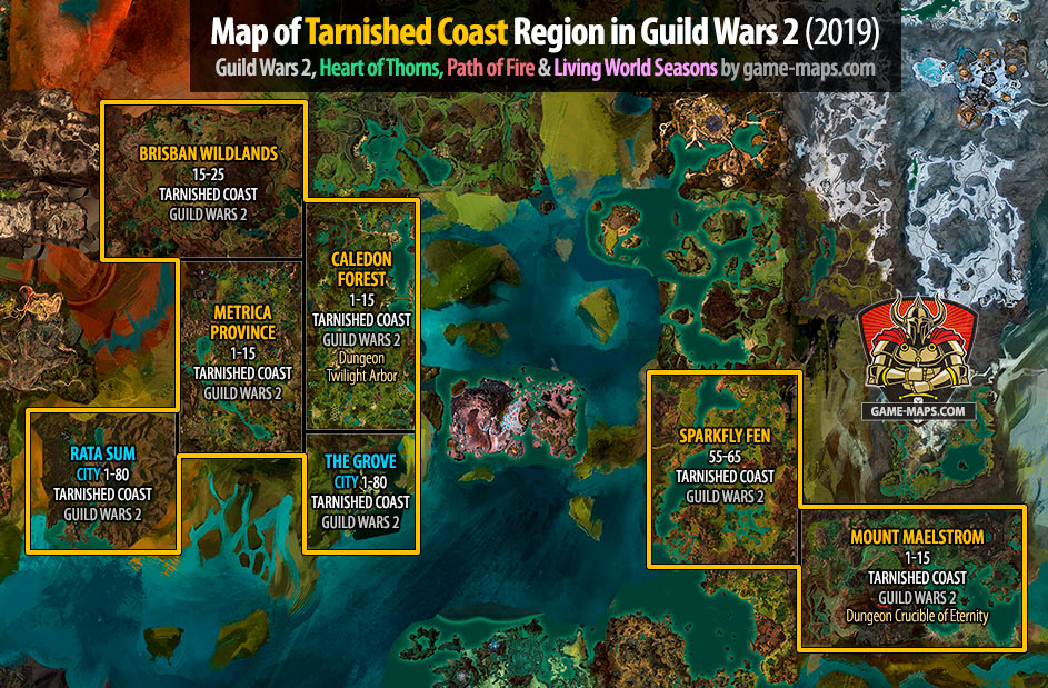 Guild Wars 2 Maps (2019) | game-maps.com on game of thrones kingdom map, empire total war map, current world conflict map, medieval 2 total war map,