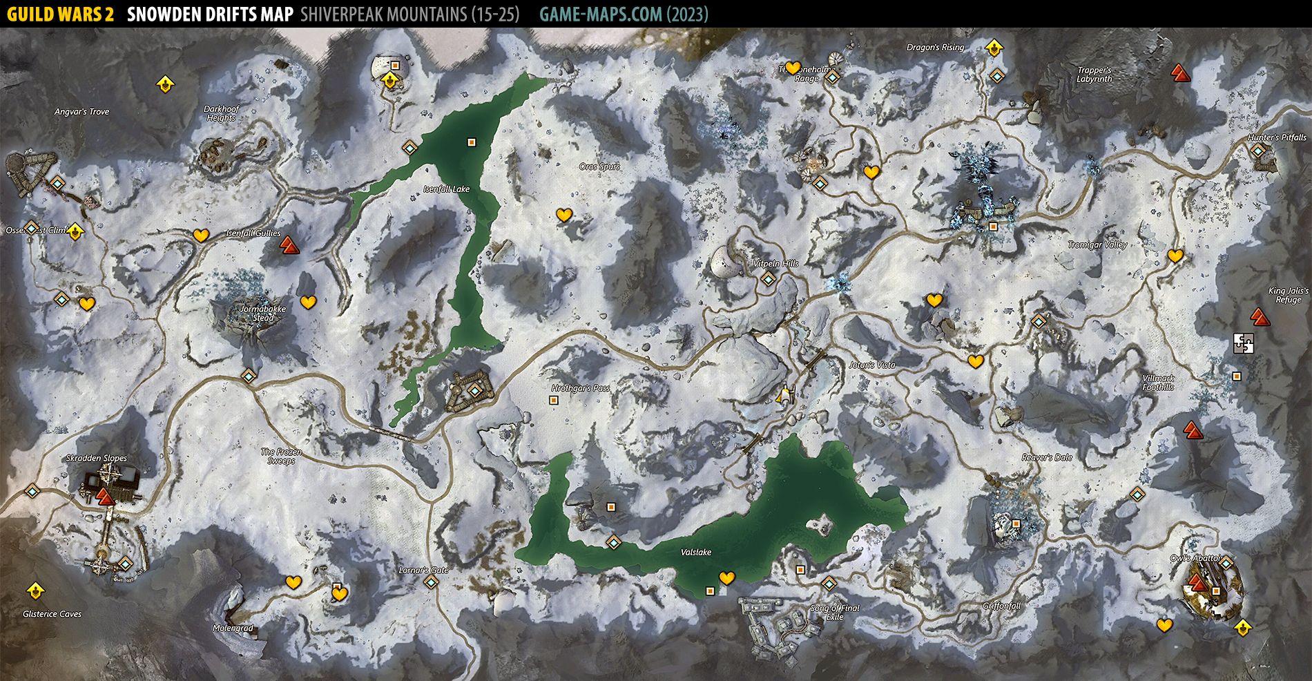 gw2 world map with Snowden Drifts Gw2 Map on Guild Wars 2 Kartenvergleich Das Alte Und Neue Tyria additionally Disney World Park Maps in addition Snowden Drifts GW2 Map together with Datamining new world map of pla  tyria showing in addition Watch.
