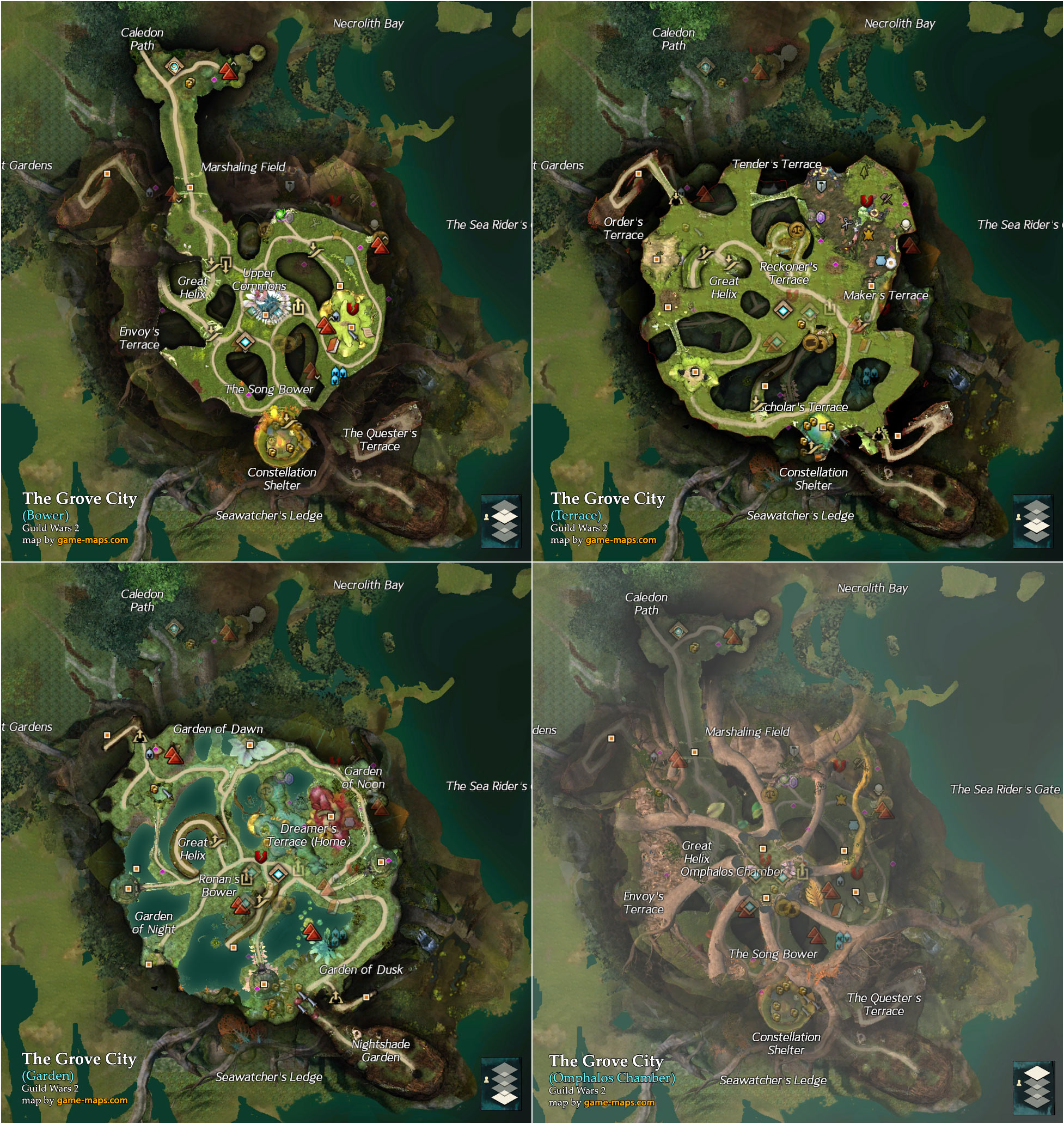 The Grove City Map Guild Wars 2