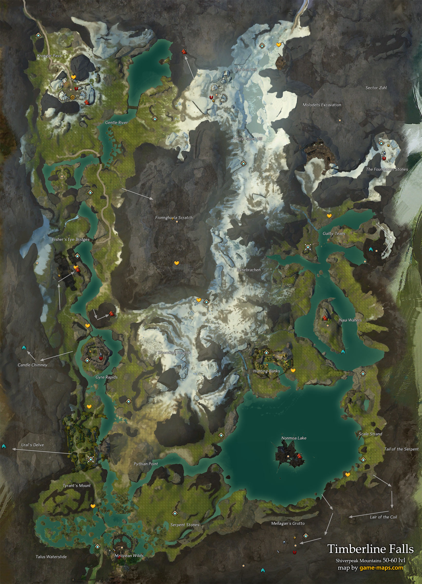how to draw on map gw 2