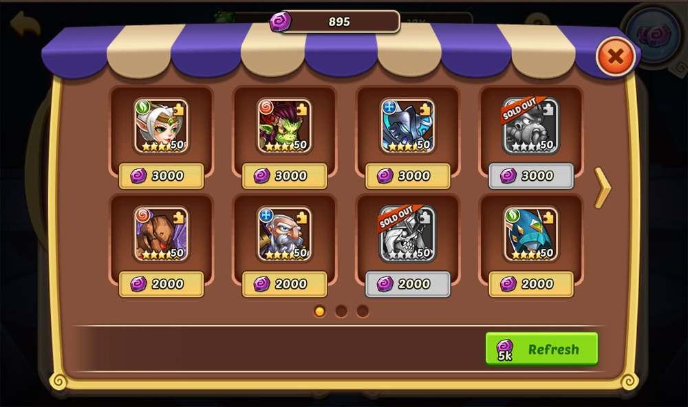 idle heroes casino store