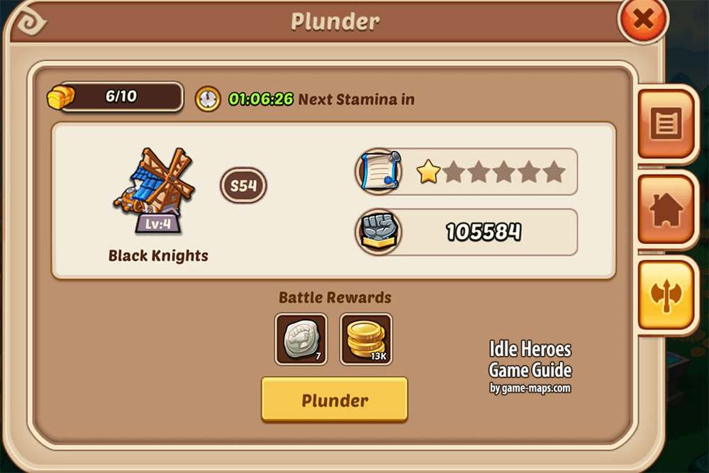 Idle Heroes Guild Mill Plunder