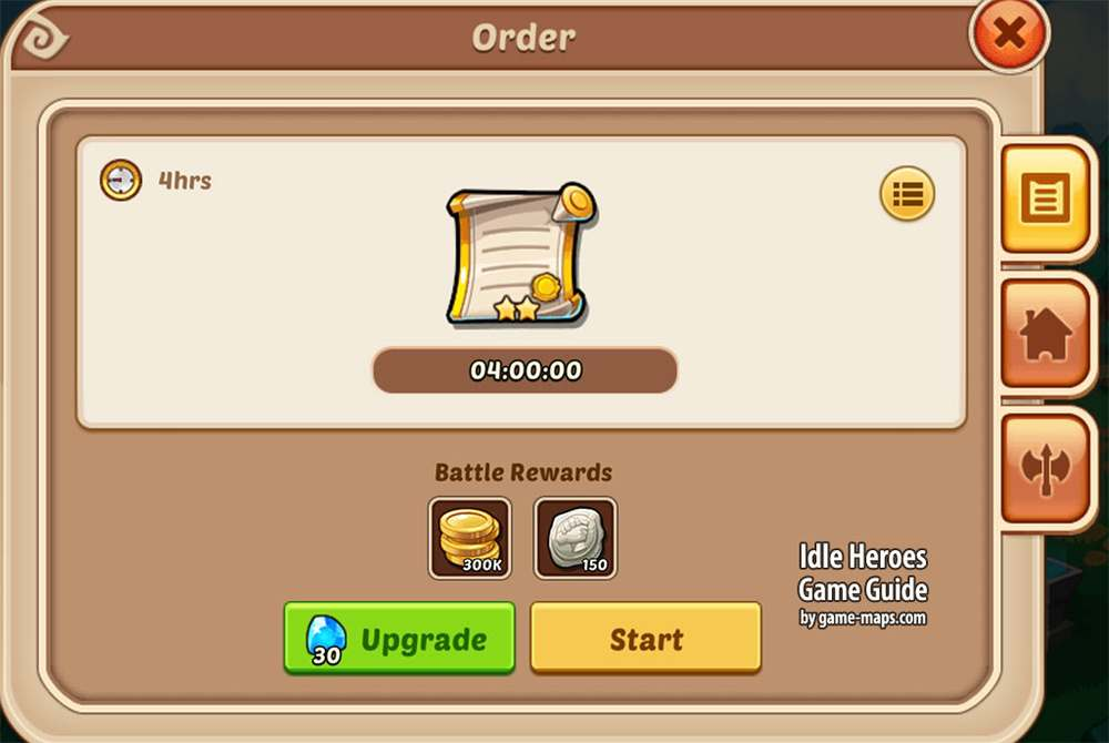 Idle Heroes Guild Mill Orders