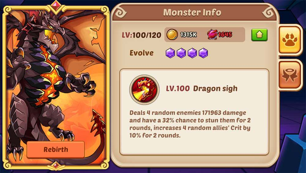 Idle Heroes Leveling Monster