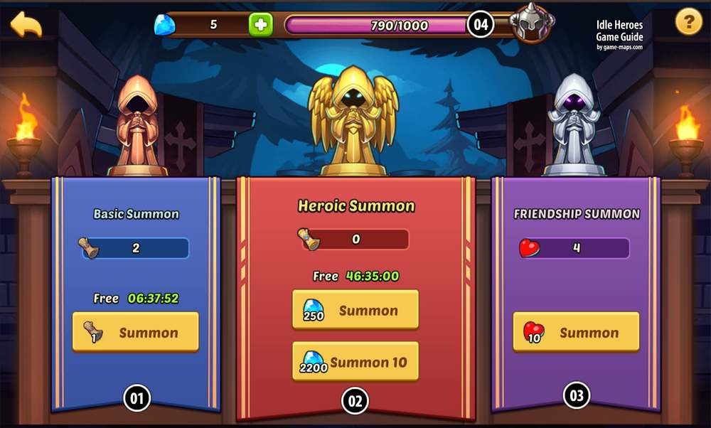 Summon Circle in Idle Heroes | game-maps com