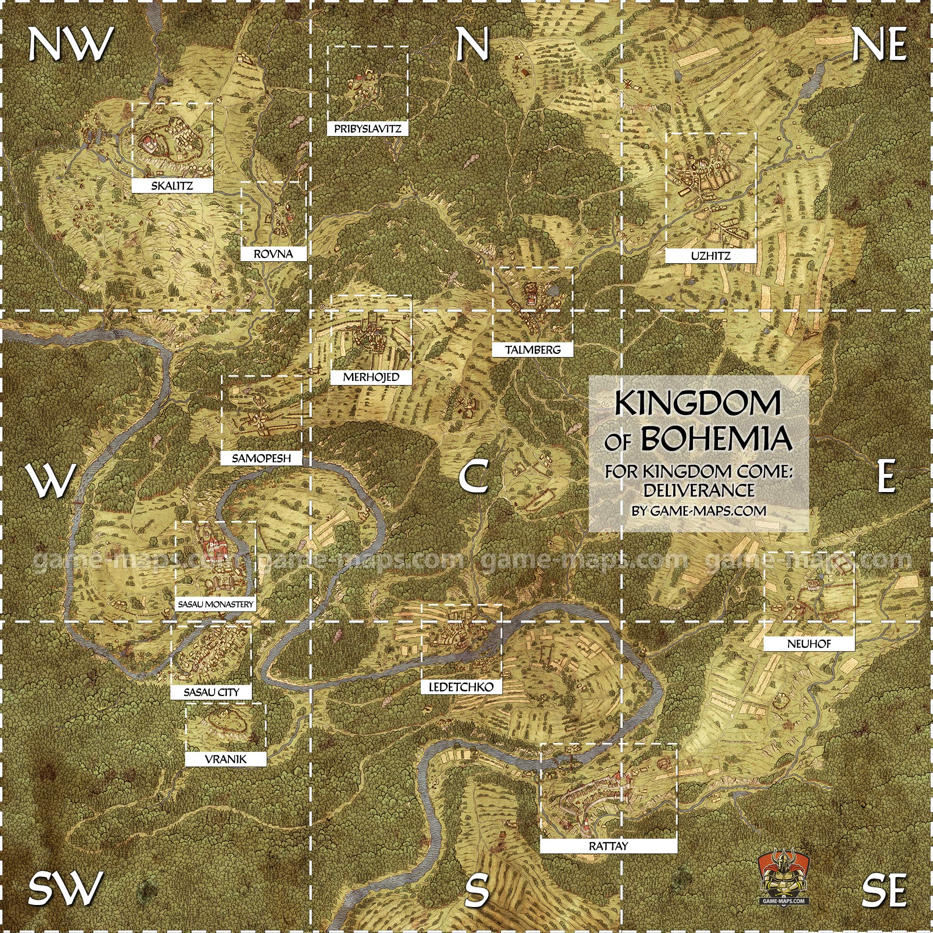 Kingdom come deliverance world map game maps bohemia world map for kingdom come deliverance gumiabroncs Images